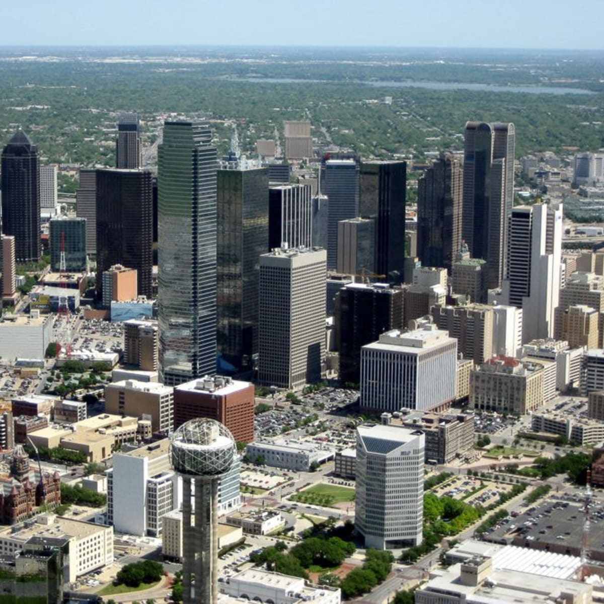Dallas skyline downtown during day