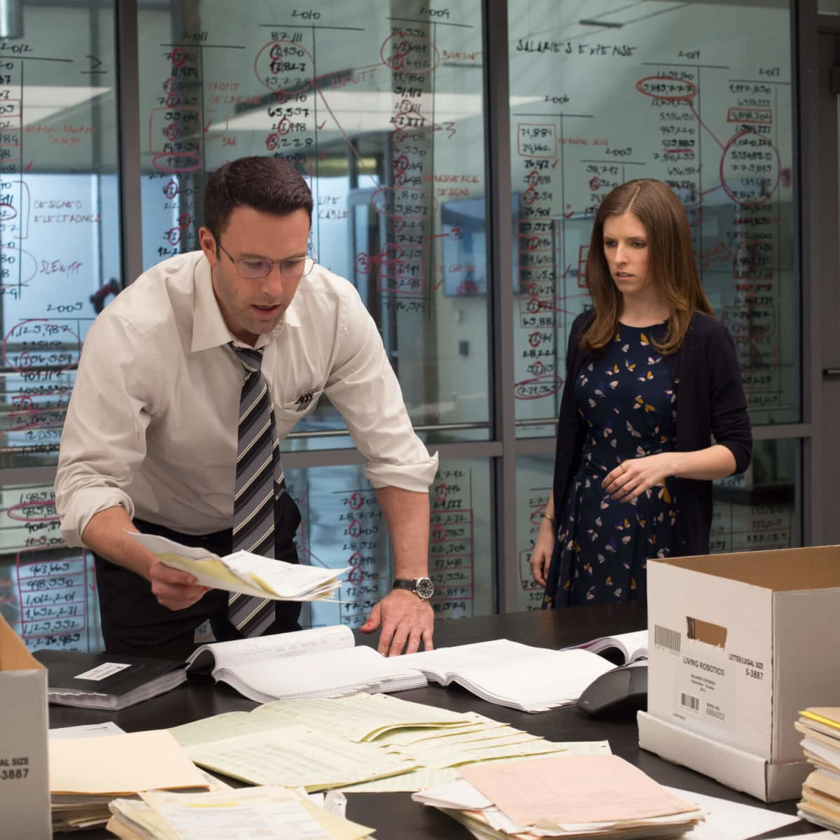 Ben Affleck and Anna Kendrick in The Accountant