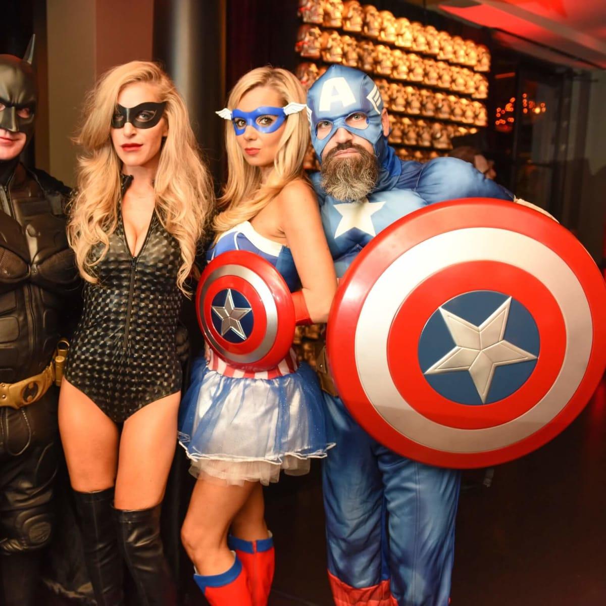 News, Shelby, Hotel ZaZa Halloween, Oct. 2015 Rick and Jennifer Kline, Amanda Hammond, Carlos Zubizarreta