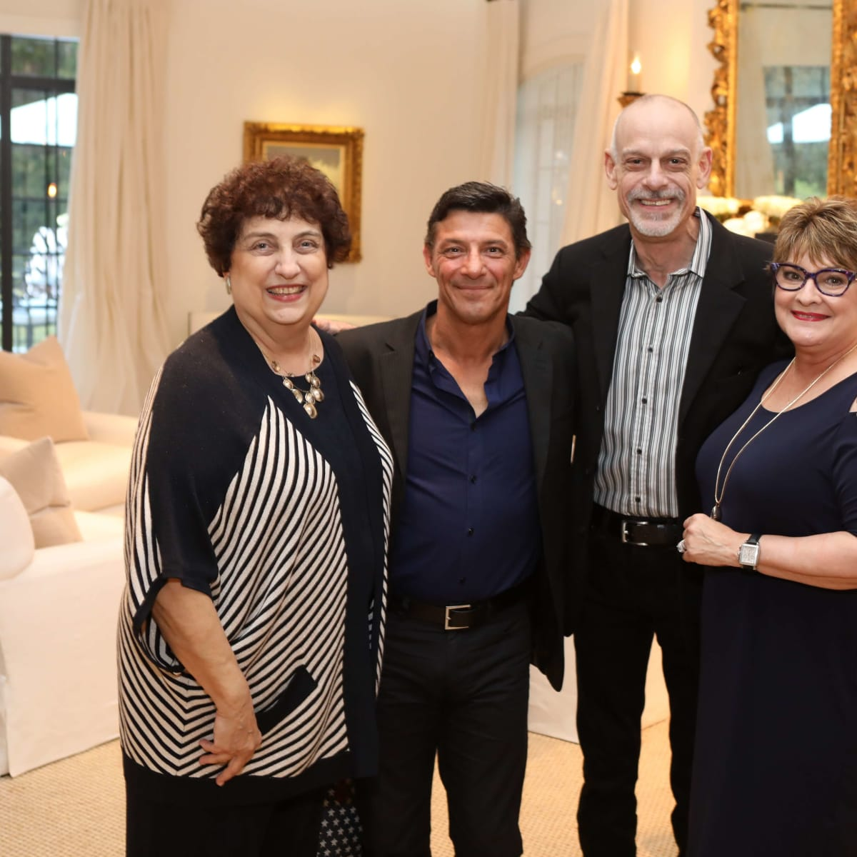 Houston, Cynthia and Anthony Petrello cocktail reception for Tommy Tune, Nov. 2016, Maureen Patton, Patrick Rinn, Michael Biagi, Cissy Segall Davis
