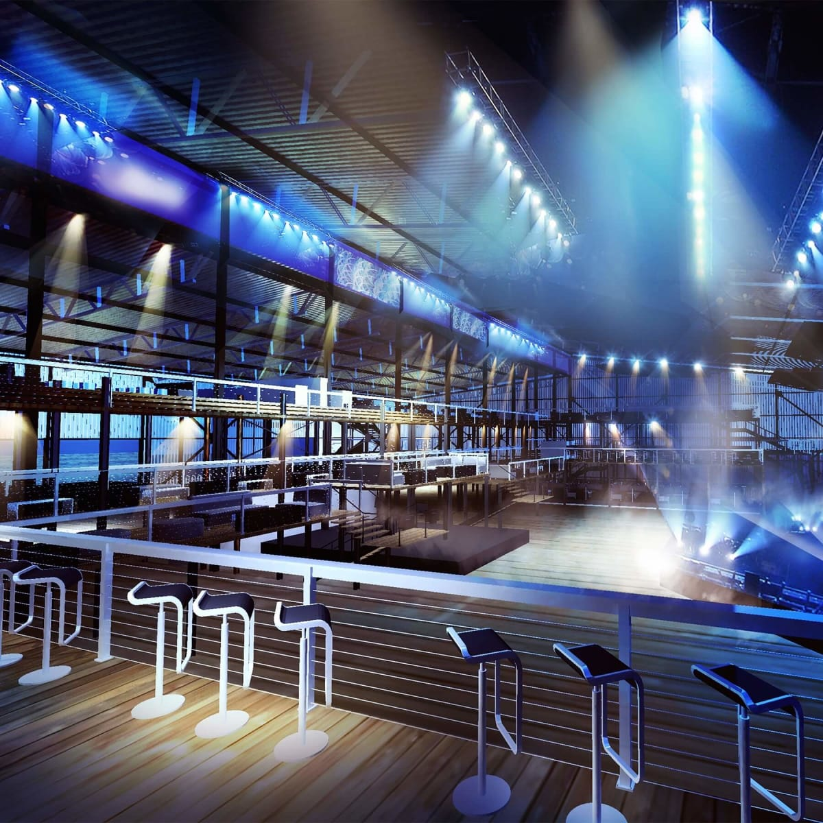 Club Nomadic stage