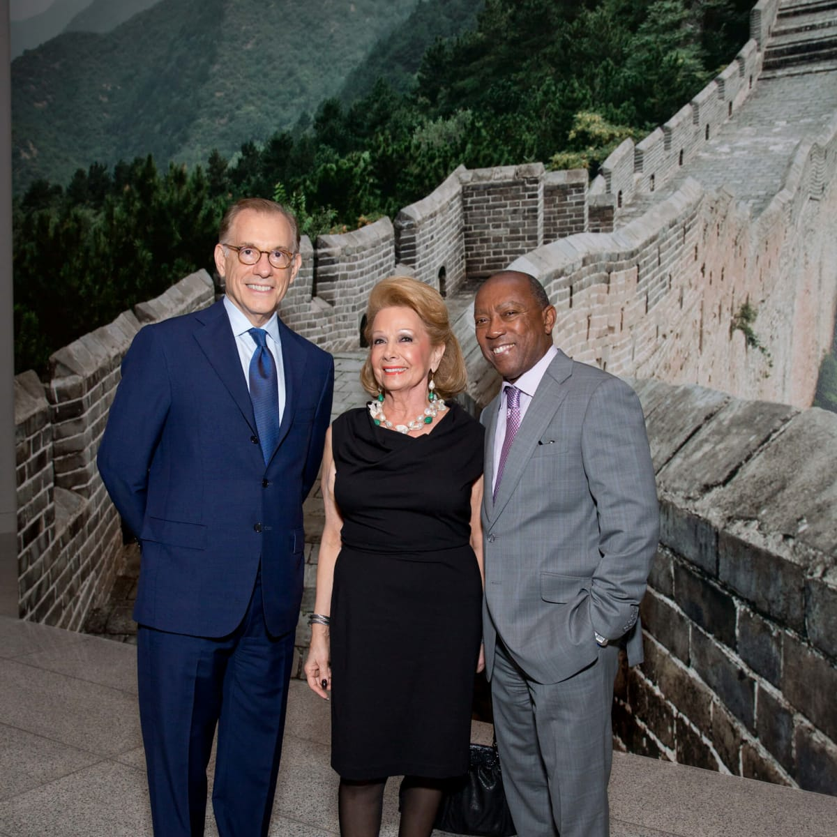 MFAH Emperors Treasures dinner, Gary Tinterow, Philamena Baird, Mayor Sylvester Turner