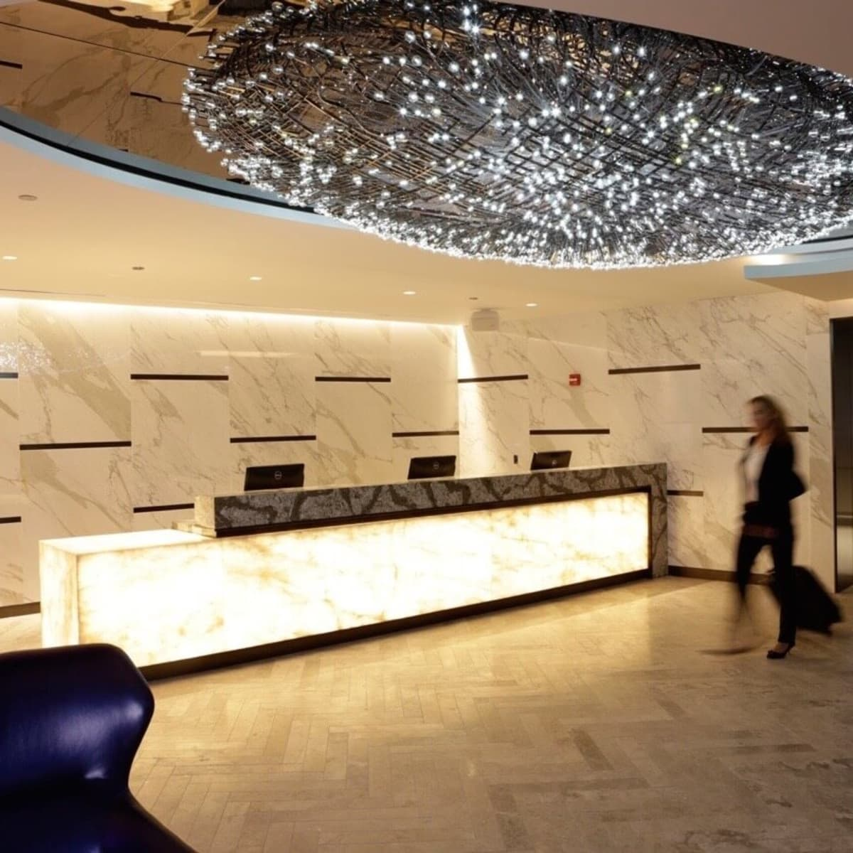 United Polaris lounged in Chicago