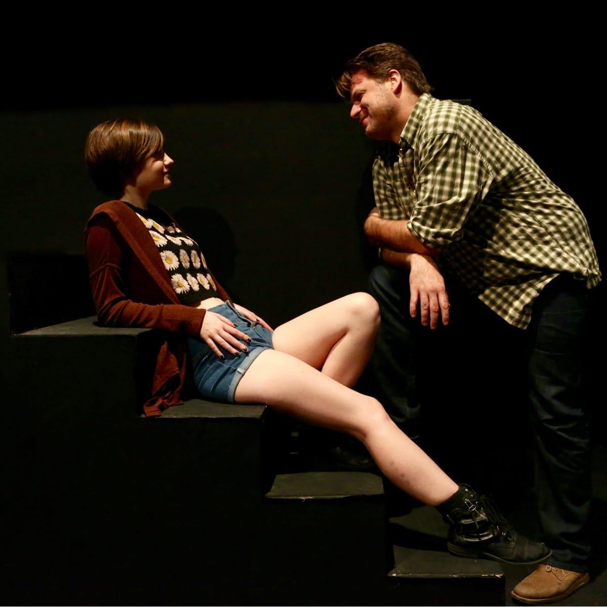 Madeleine Morris and Jeff Burleson in In a Dark Dark House
