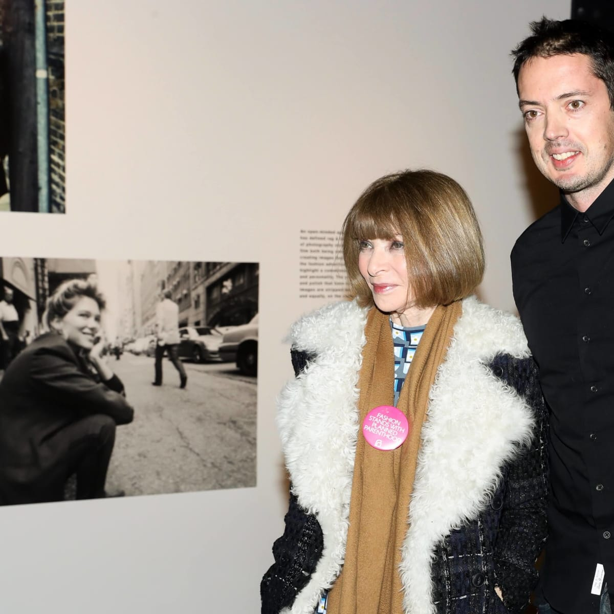 Anna Wintour, Marcus Wainwright, Rag & Bone exhibition, party