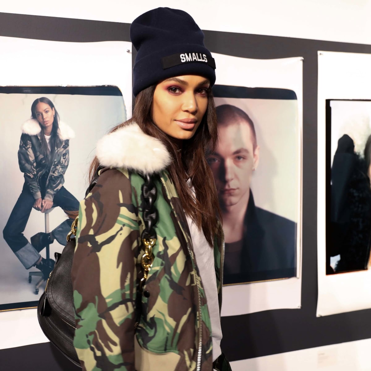Joan Smalls at Rag & Bone exhibition and party