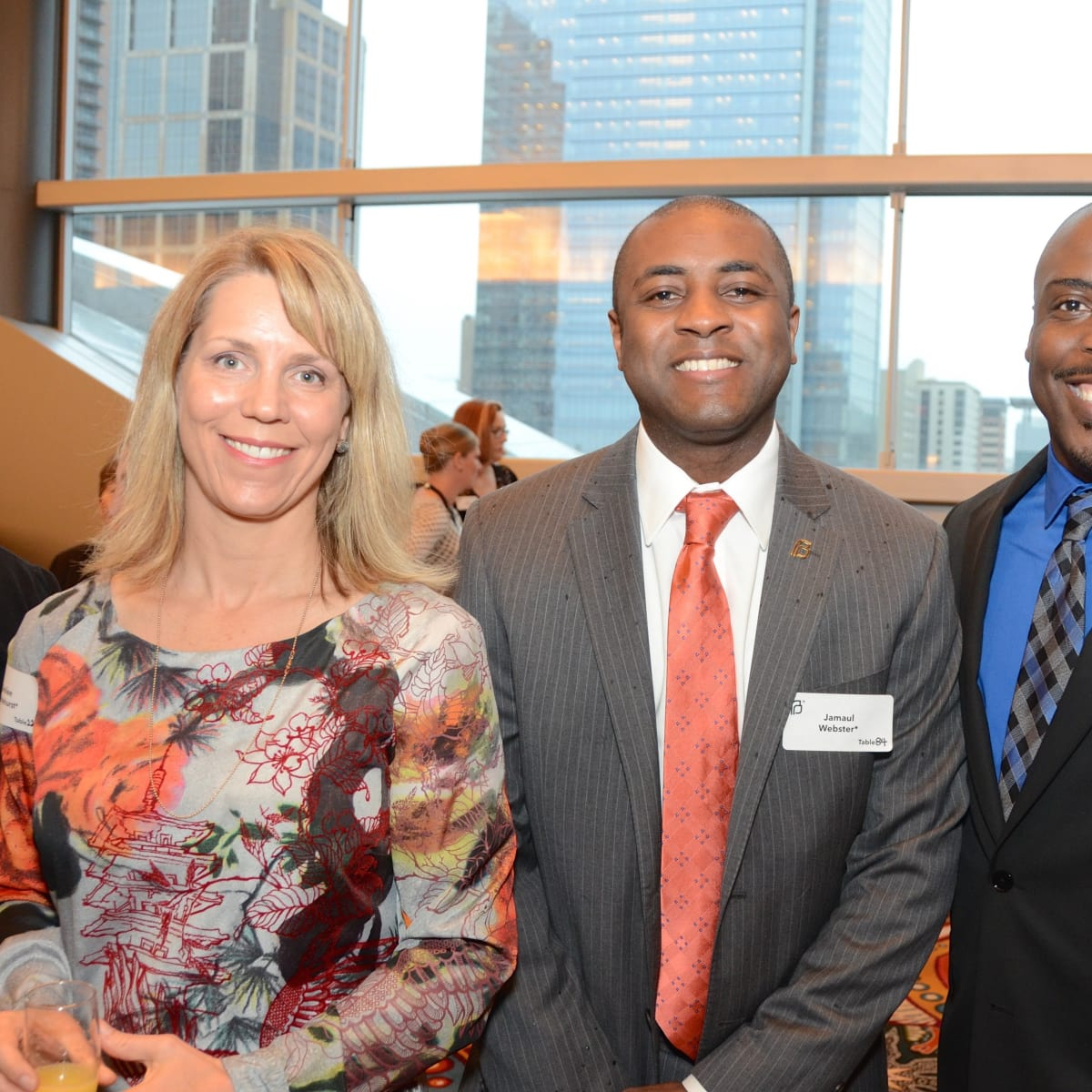 Emilee Whitehurst, Jamaul Webster, Alfred Curtis at Planned Parenthood luncheon