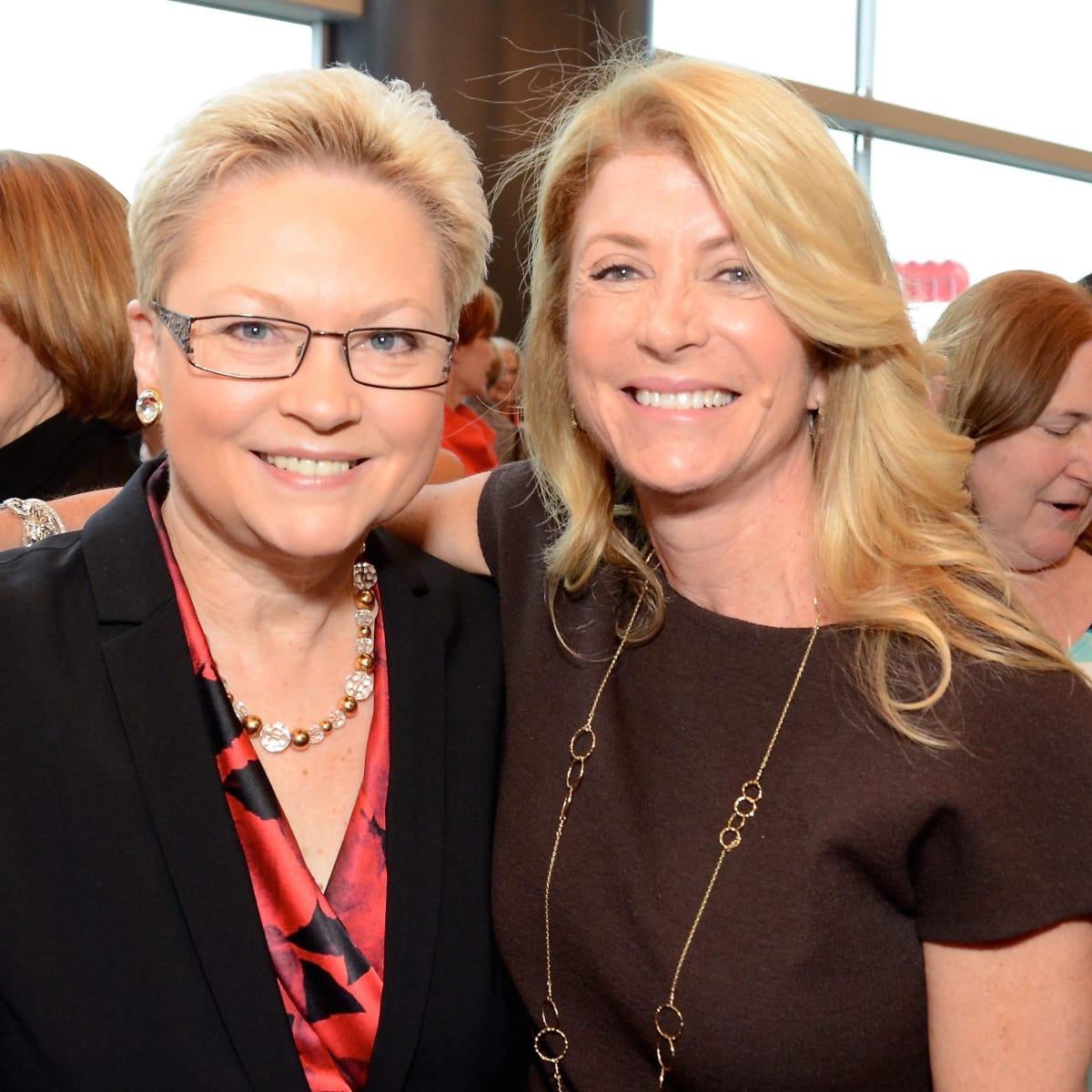 Melaney Linton, Wendy Davis at Planned Parenthood luncheon