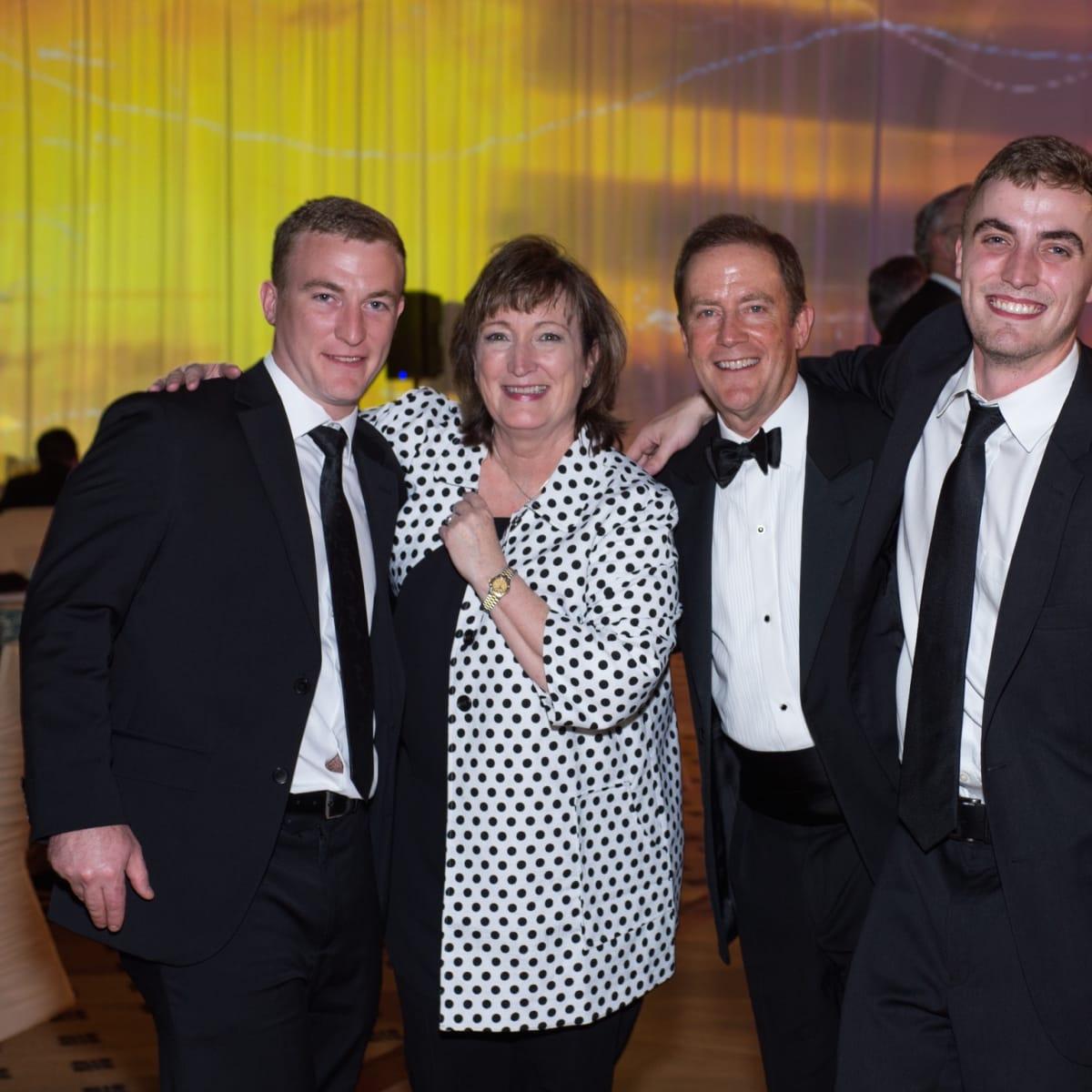 Corey Hamilton, Tonya and Hank Hamilton, Luke Hamilton at Covenant House Gala 2017