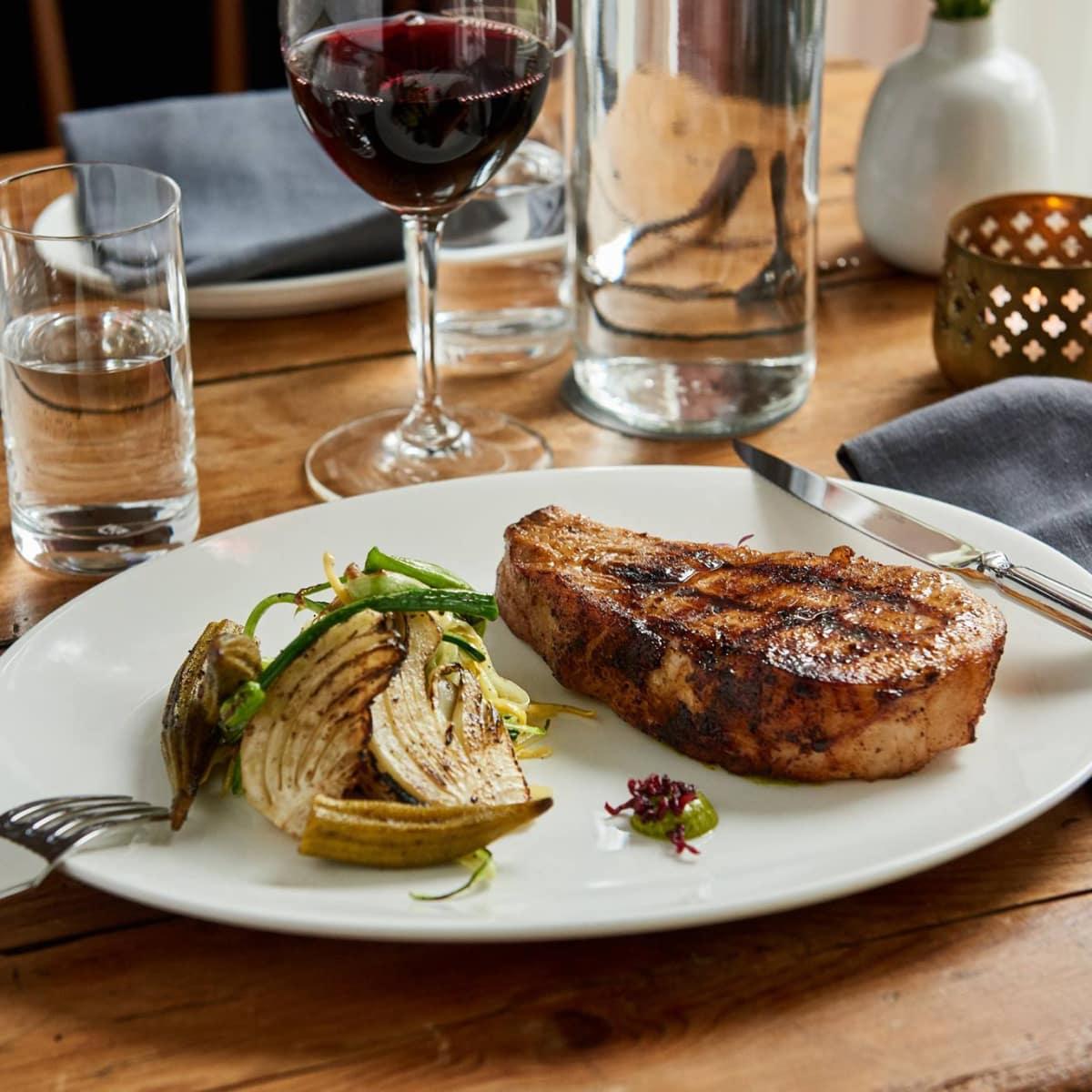 Mattie's restaurant Green Pastures pork chop