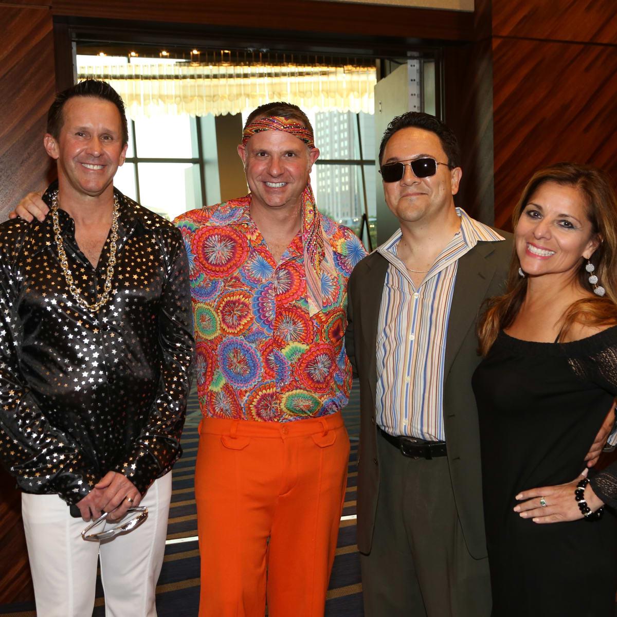 Thom McDaniel, Lance Menster, Carl Salazar, Sandra Ramirez Aultman at Houston Area Women's Center Gala