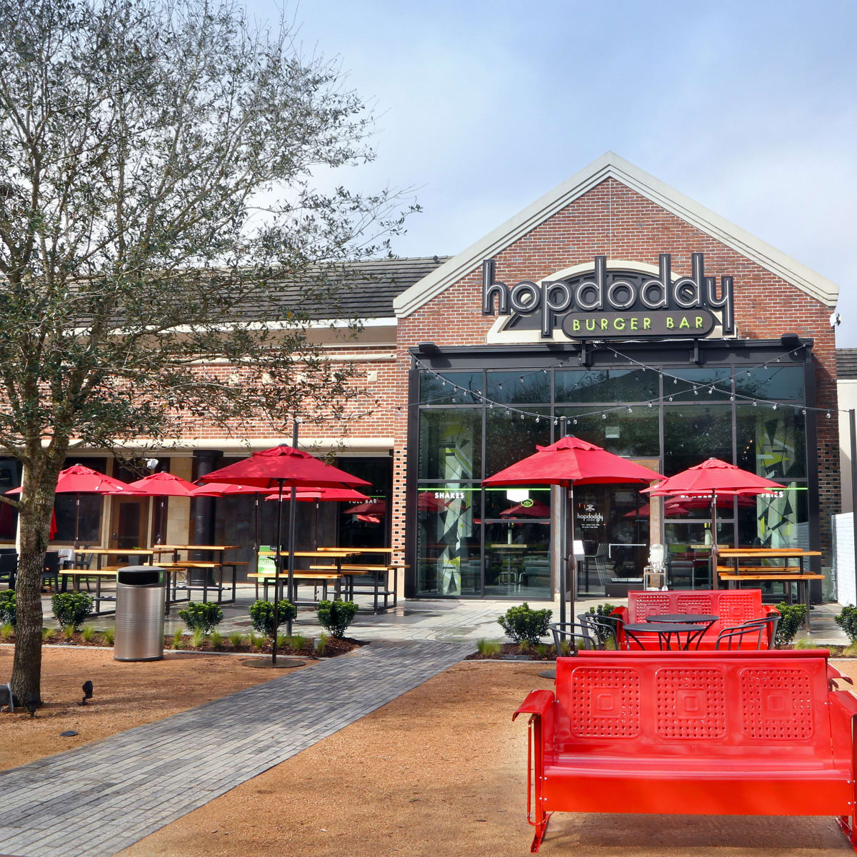 Houston, new patios, April 2017, Hopdoddy Rice Village