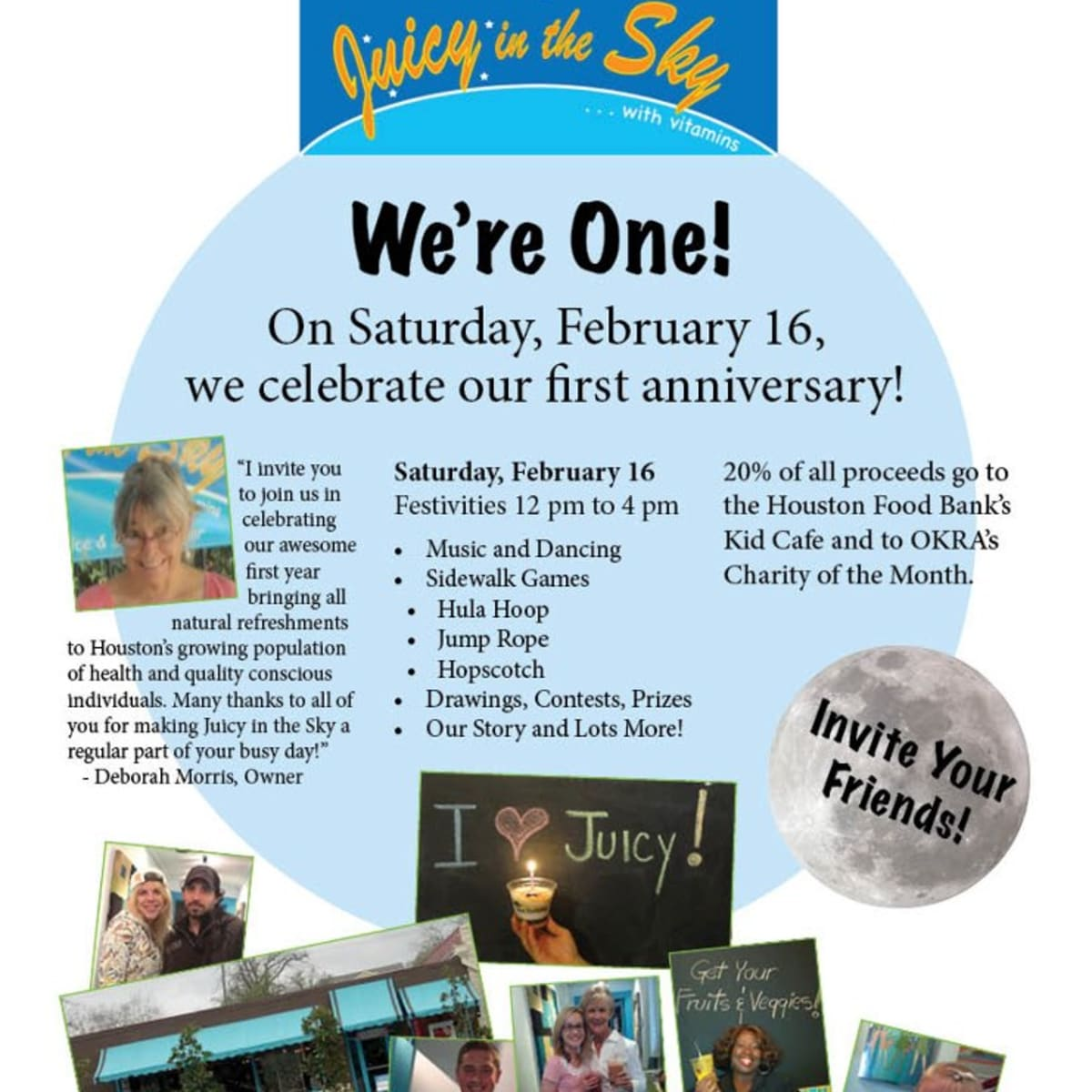 Juicy in the Sky First Anniversary