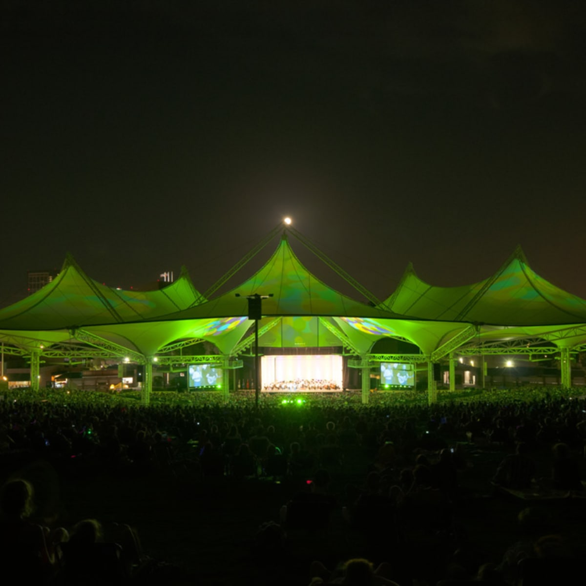 Cynthia Woods Mitchell Pavilion, evening, concert, Houston Symphony