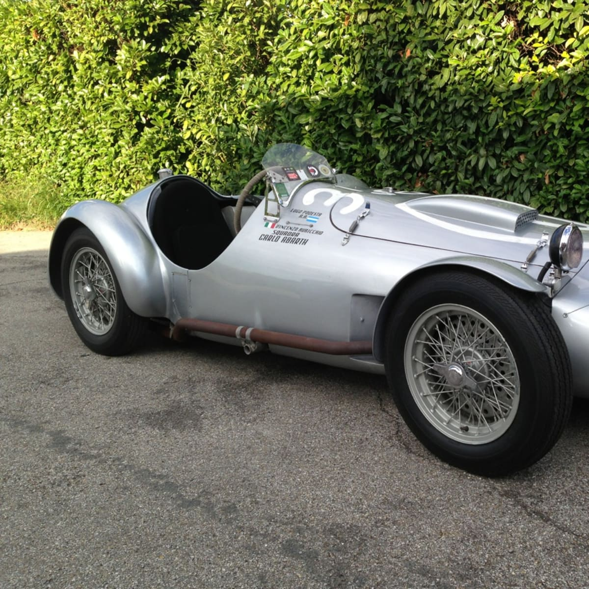 vintage sports racing car Tazio Nuvolari's 1950 Race Cistalia Abarth 204a
