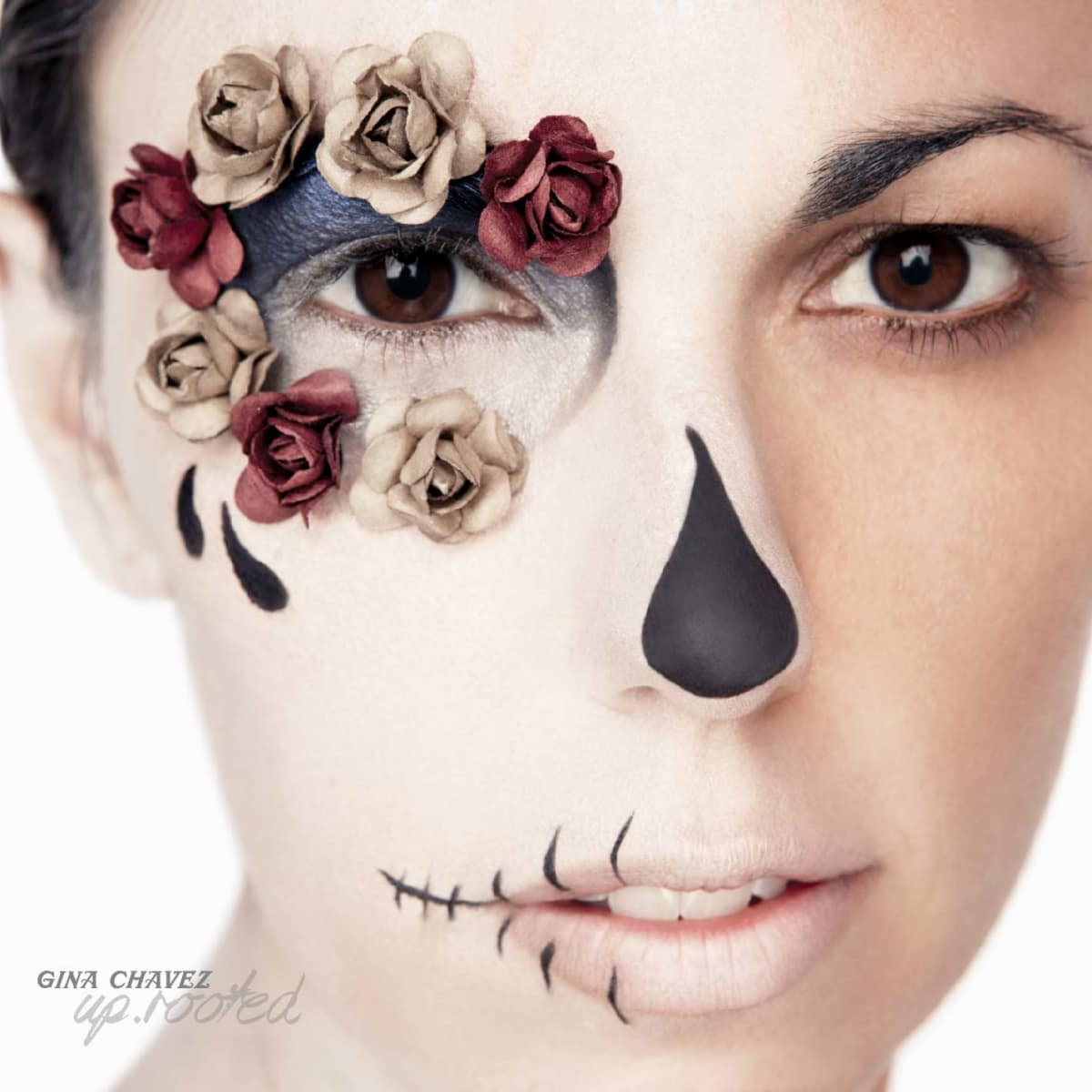 Gina Chavez on the cover of her new album UP.ROOTED
