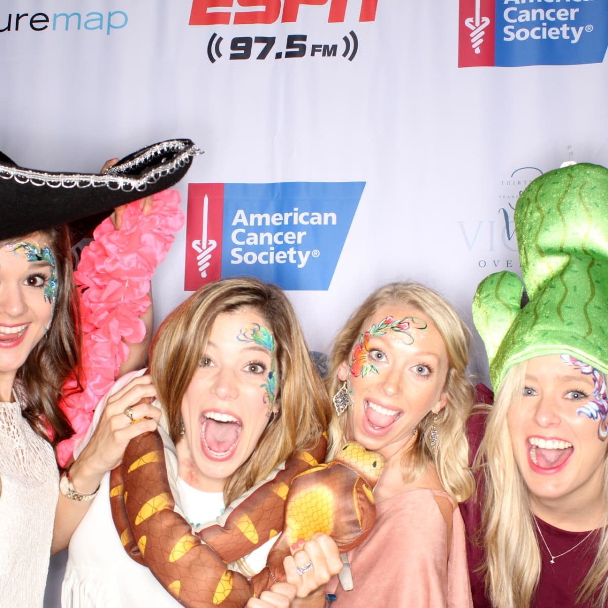 Houston, Cattle Barron's Ball 2017, May 2017, Partygoers have fun in the Photobooth