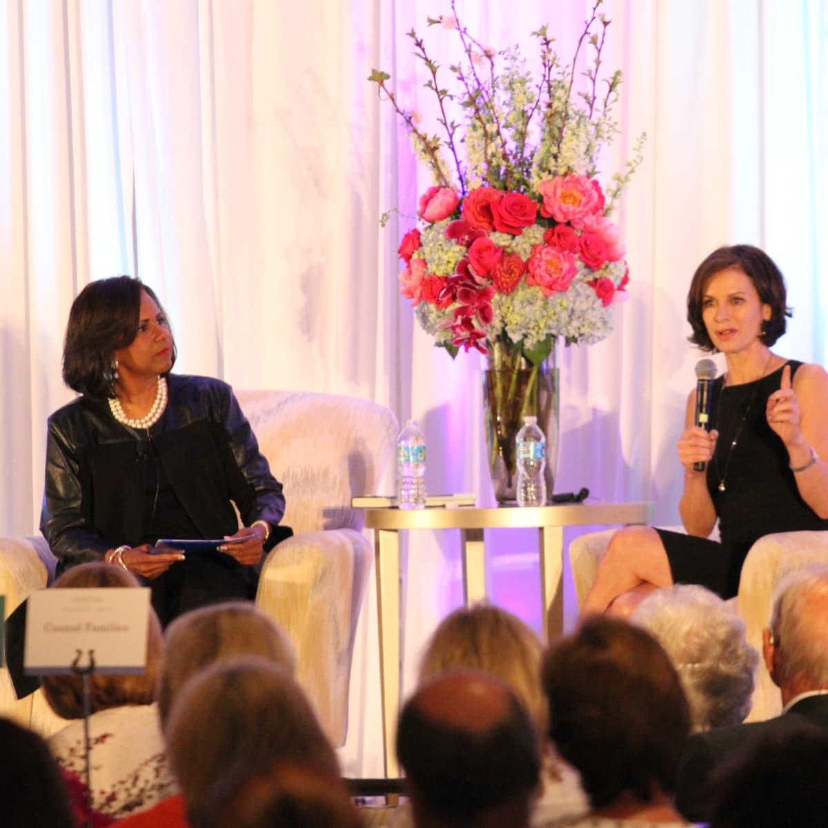 Melanie Lawson, Elizabeth Vargas at Menninger Clinic luncheon
