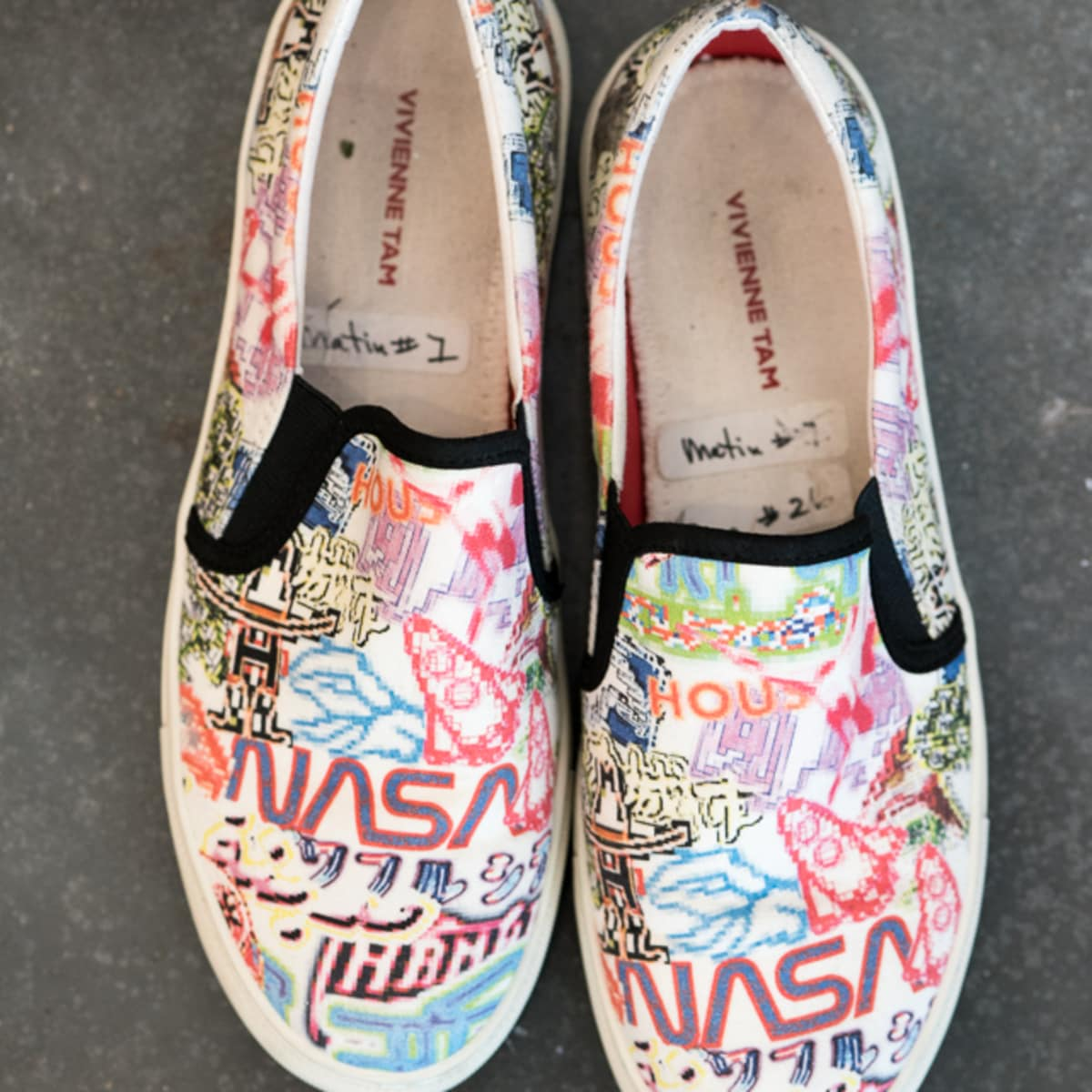 Vivienne Tam Houston collection slip on shoes