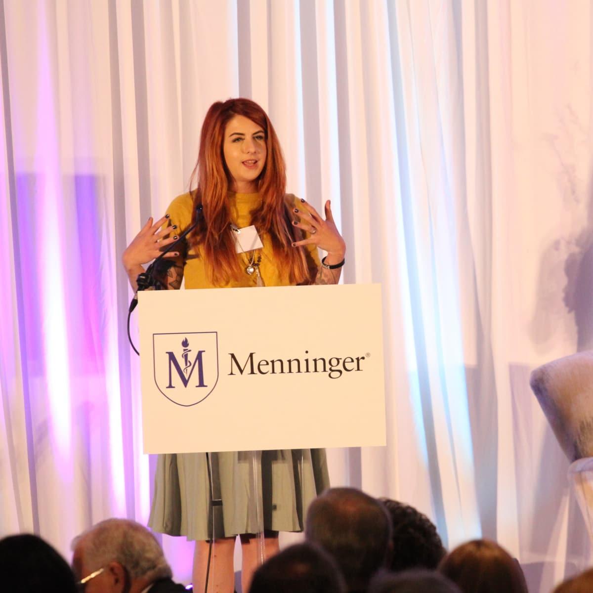 Simone Hunt at Menninger Clinic luncheon
