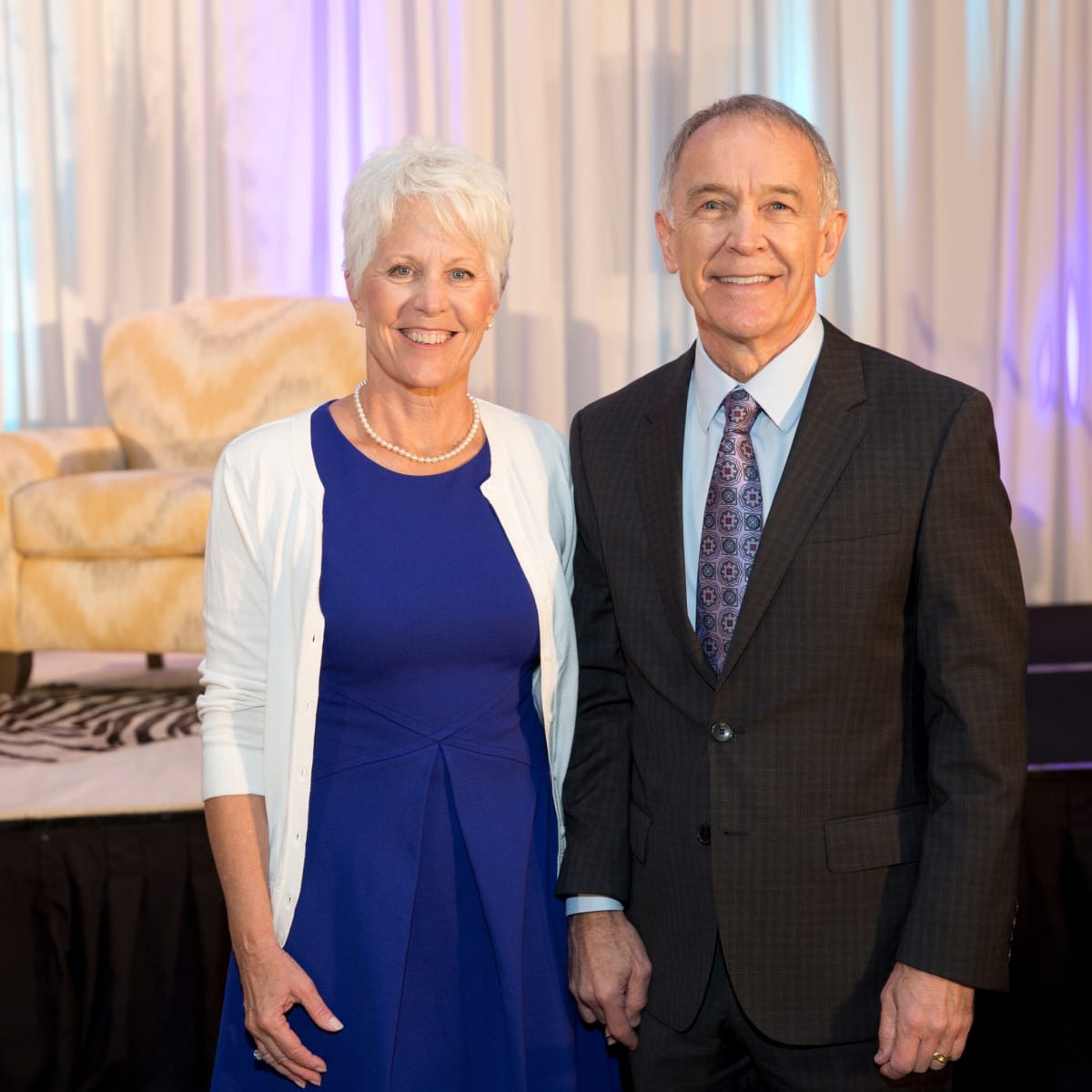 Kathy and Dr. C. Edward Coffey at Menninger Clinic luncheon