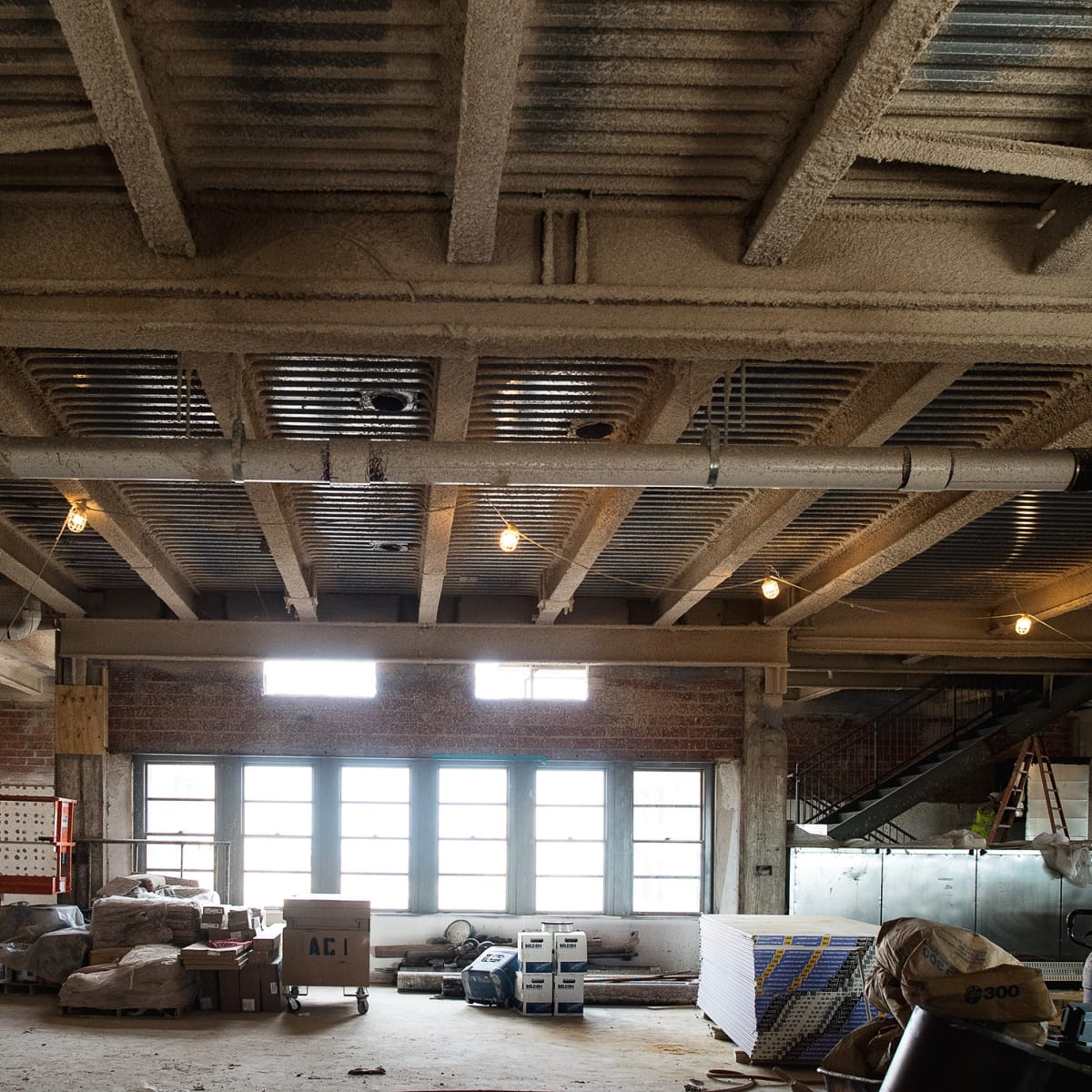 Bryan Caswell Oxbow 7 construction private dining room wide view