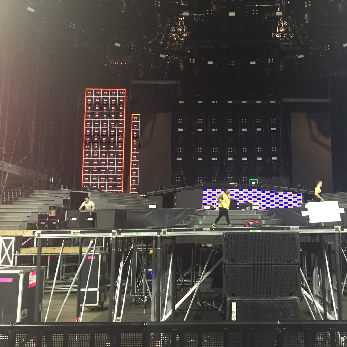 Guns N Roses stage closeup
