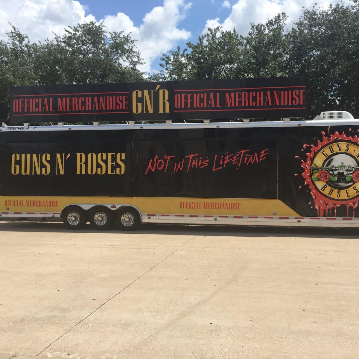 Guns N Roses Merchandise truck