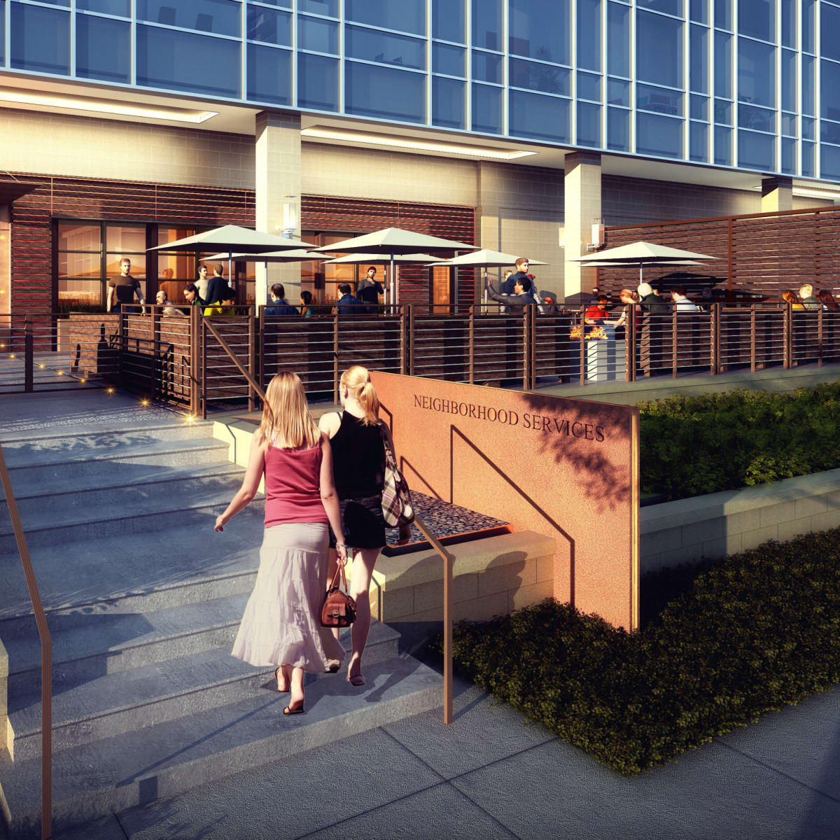 Omni Frisco hotel NHS Neighborhood Services rendering