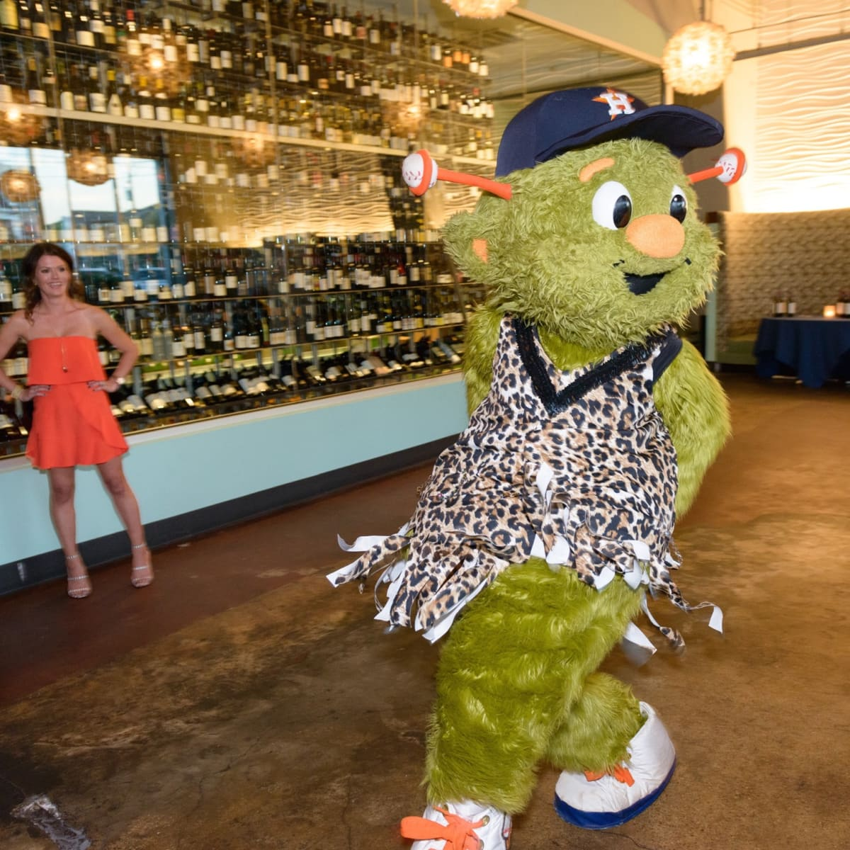 Salty Supper Orbit Houston Astros dance