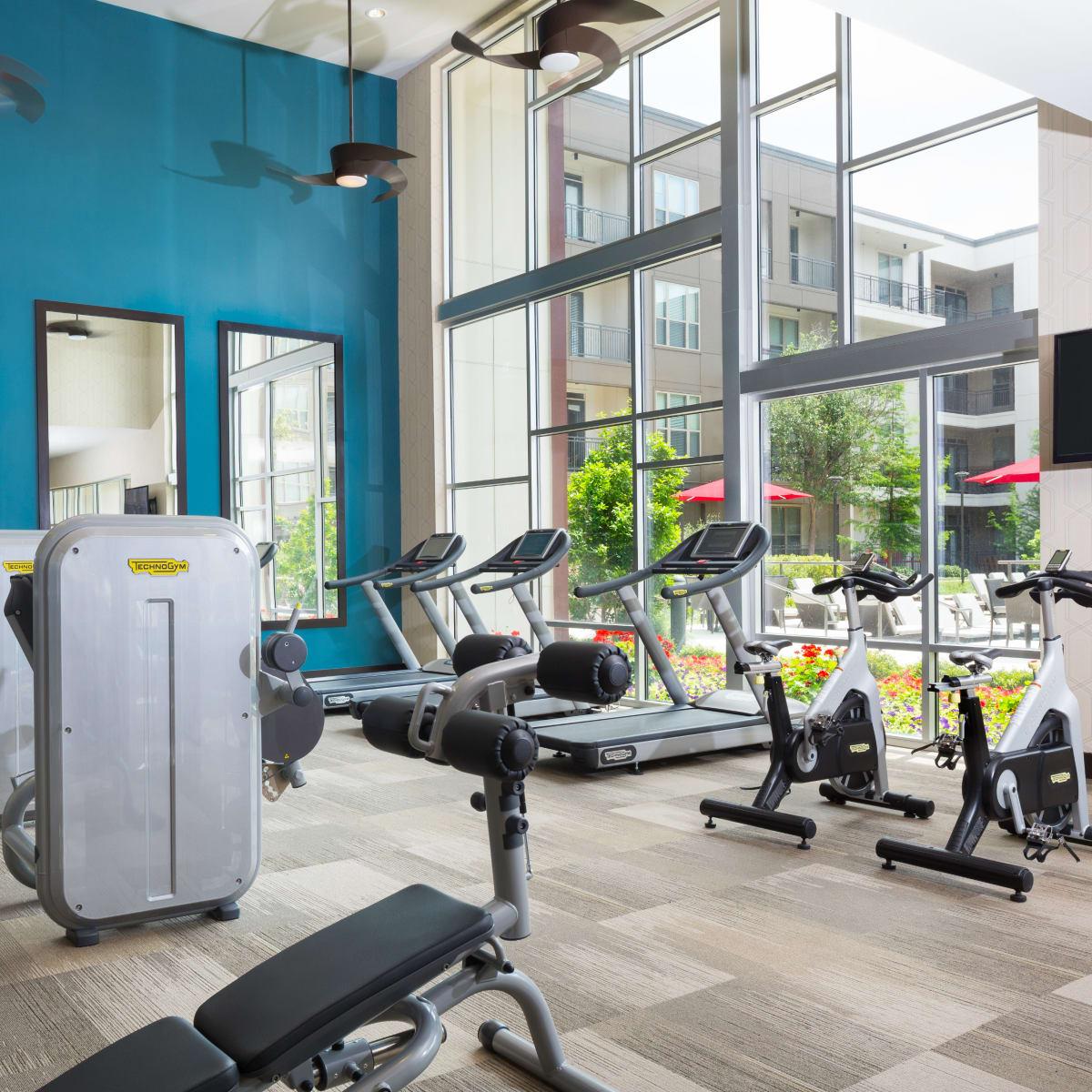 Strata Dallas fitness room