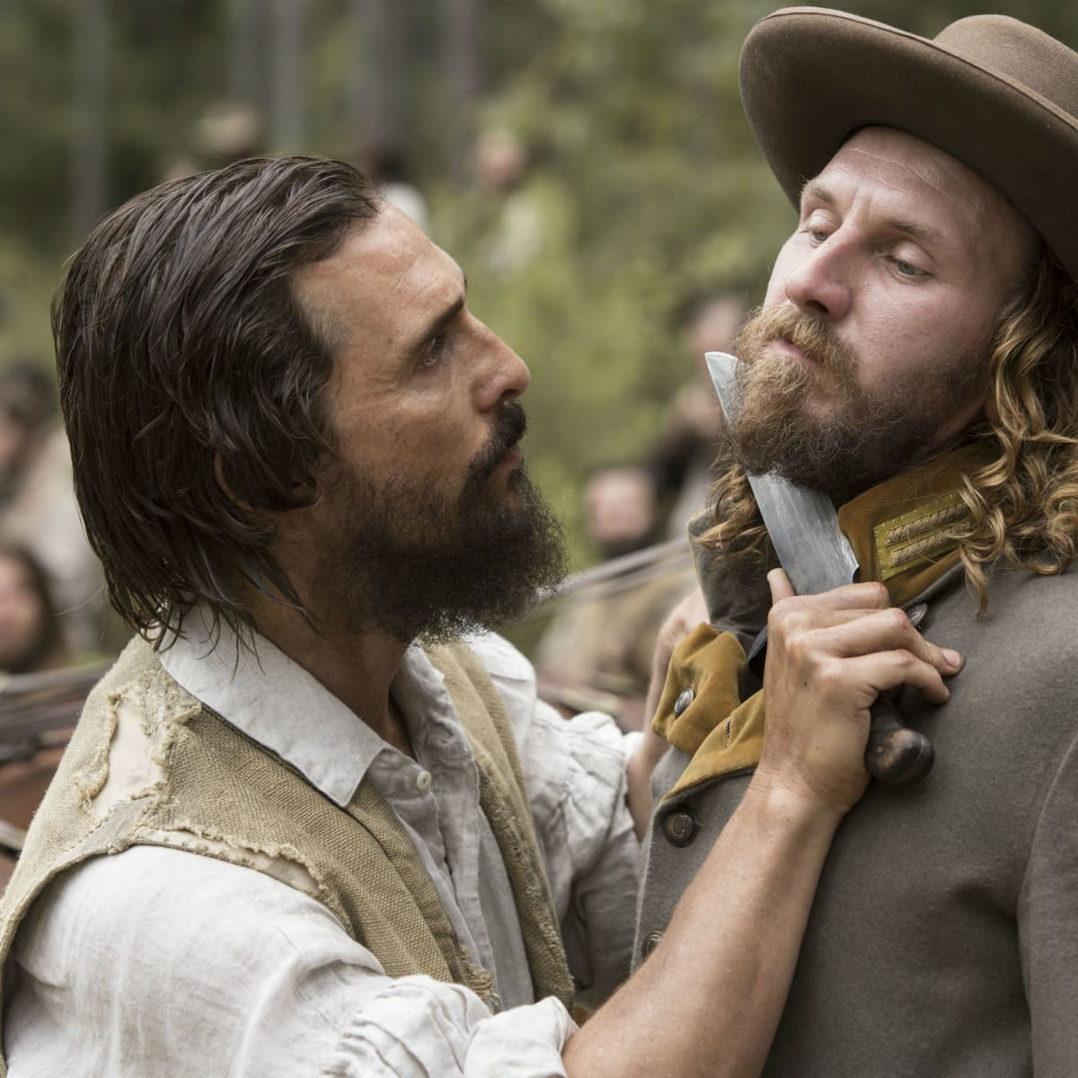 Matthew McConaughey and Bill Tangradi in Free State of Jones