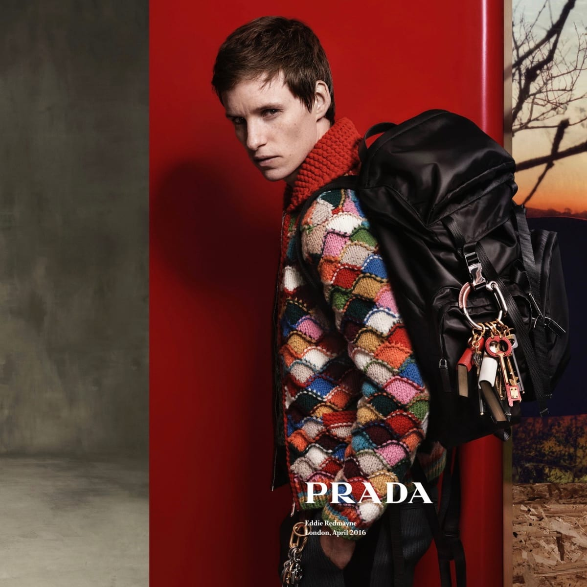 Eddie Redmayne in Prada fall ad campaign