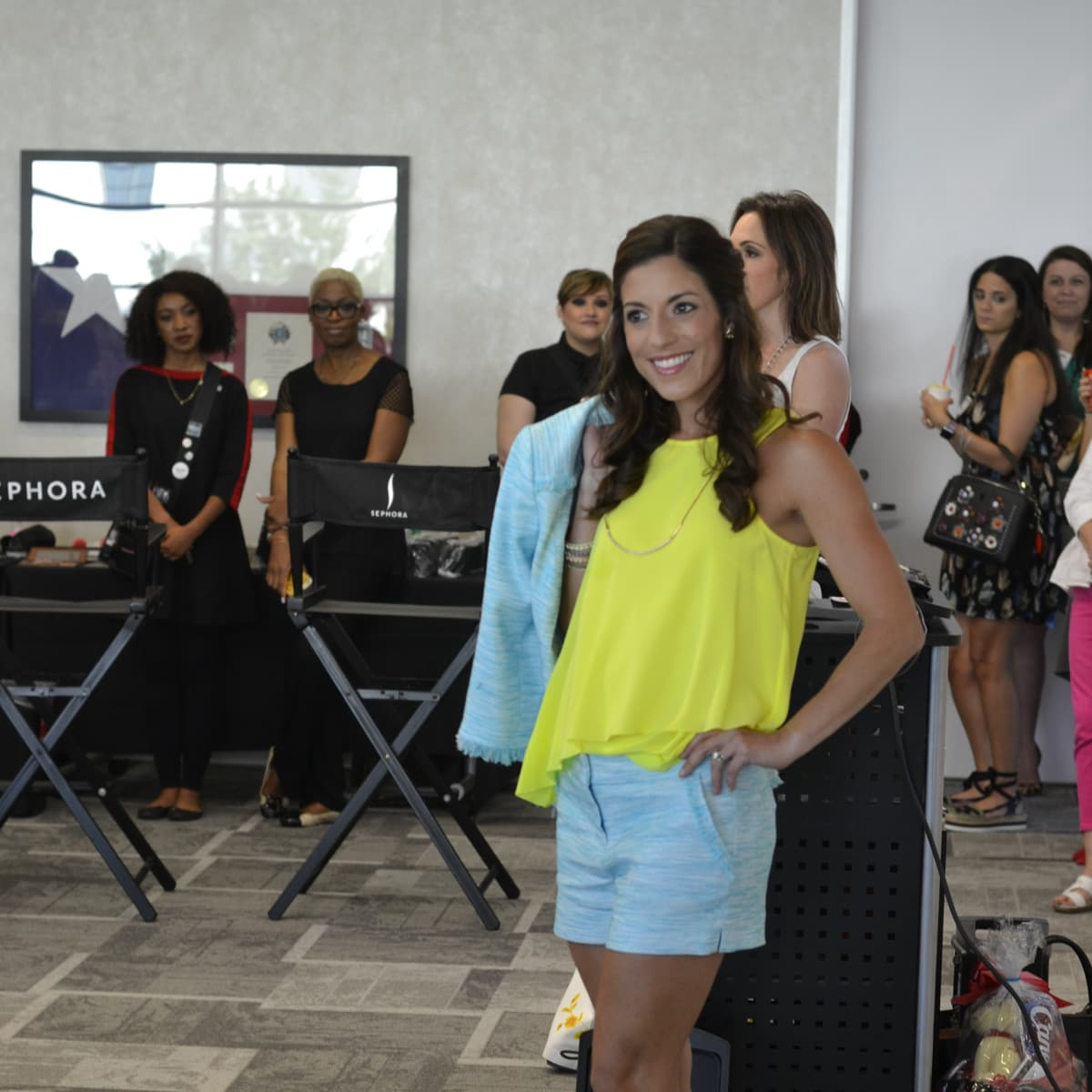 Dress for Success open house, 6/16 Muse model Laura Grau