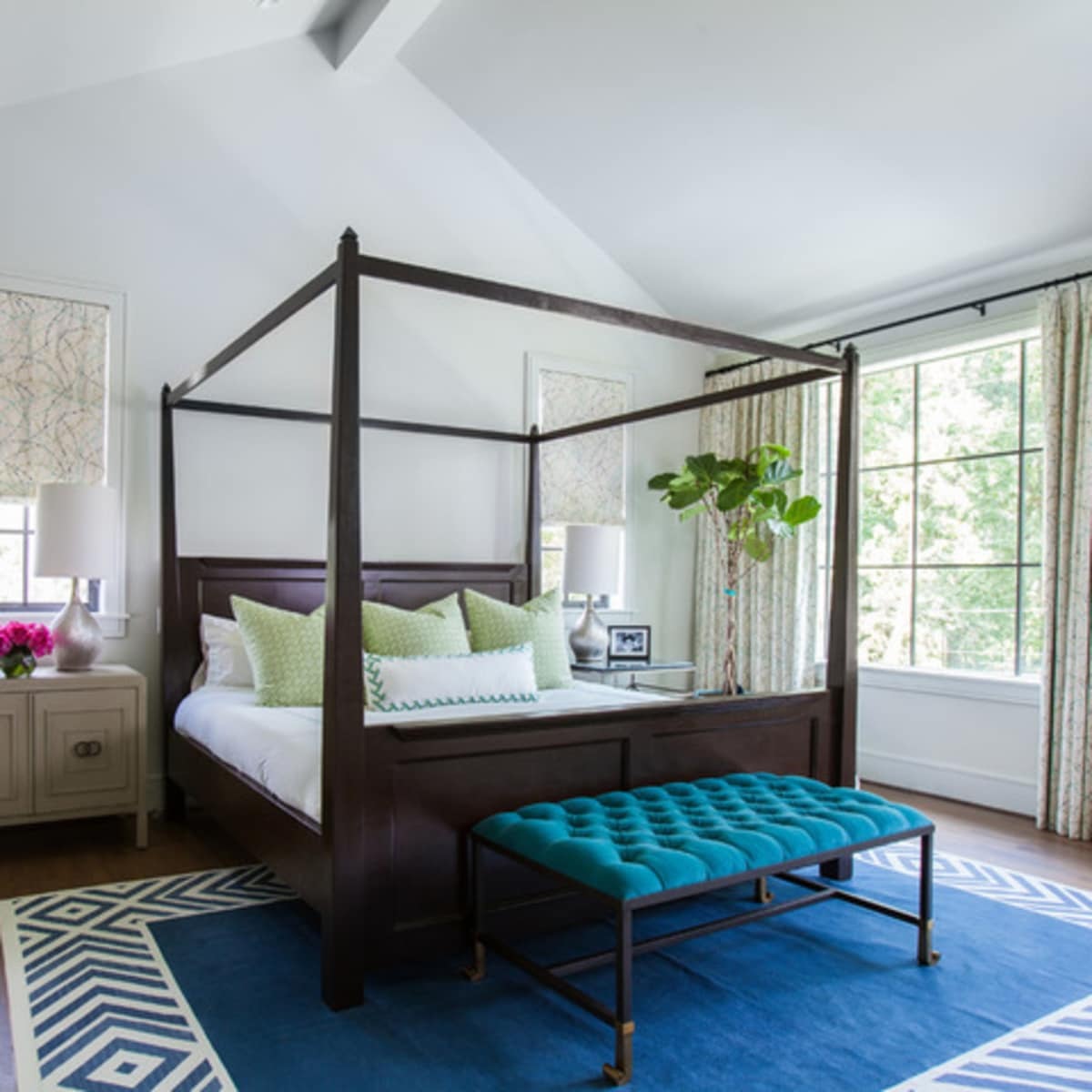 Houzz Houston house home Southern Americana Spanish colonial June 2016 bedroom