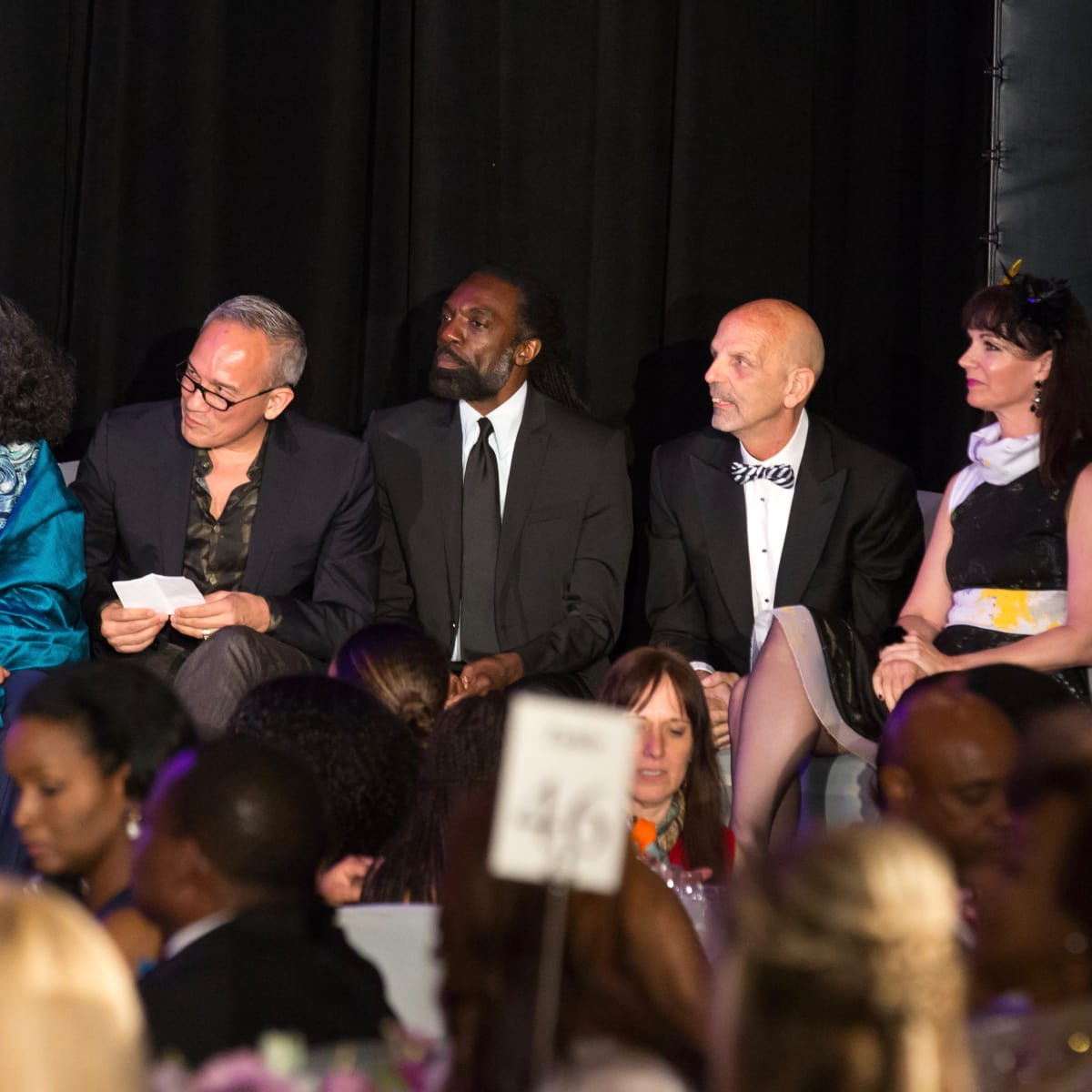 For The Sake of Art judges Michelle Barnes, Cesar Galindo, Kevan Hall, Clifford Pugh, Beth Muenke