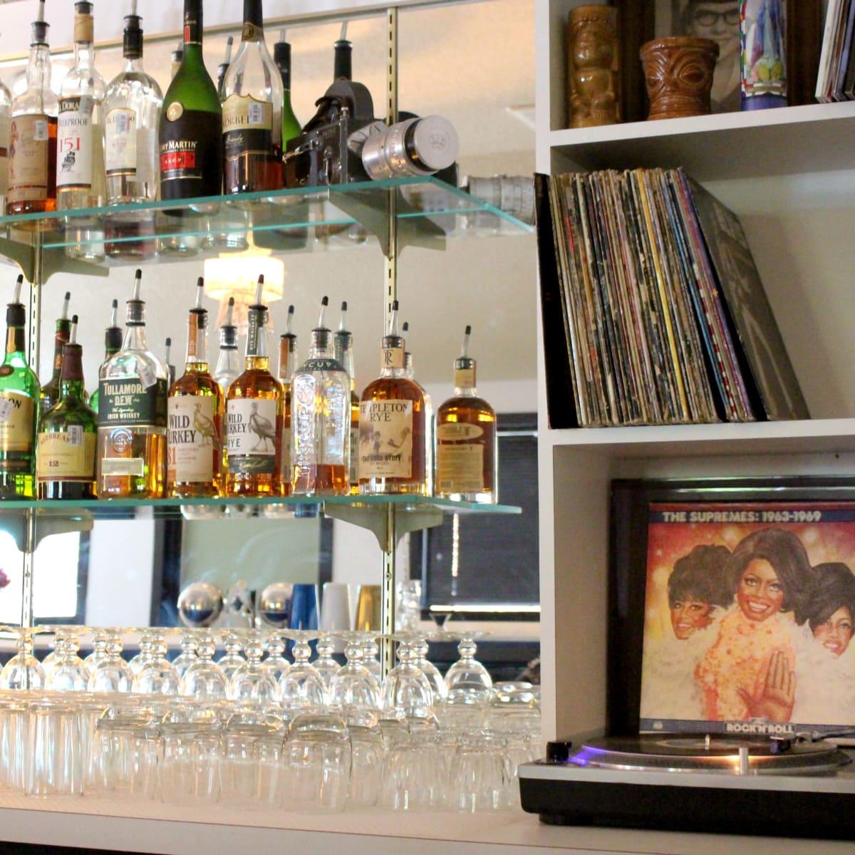 Kitty Cohen's Austin bar vinyl