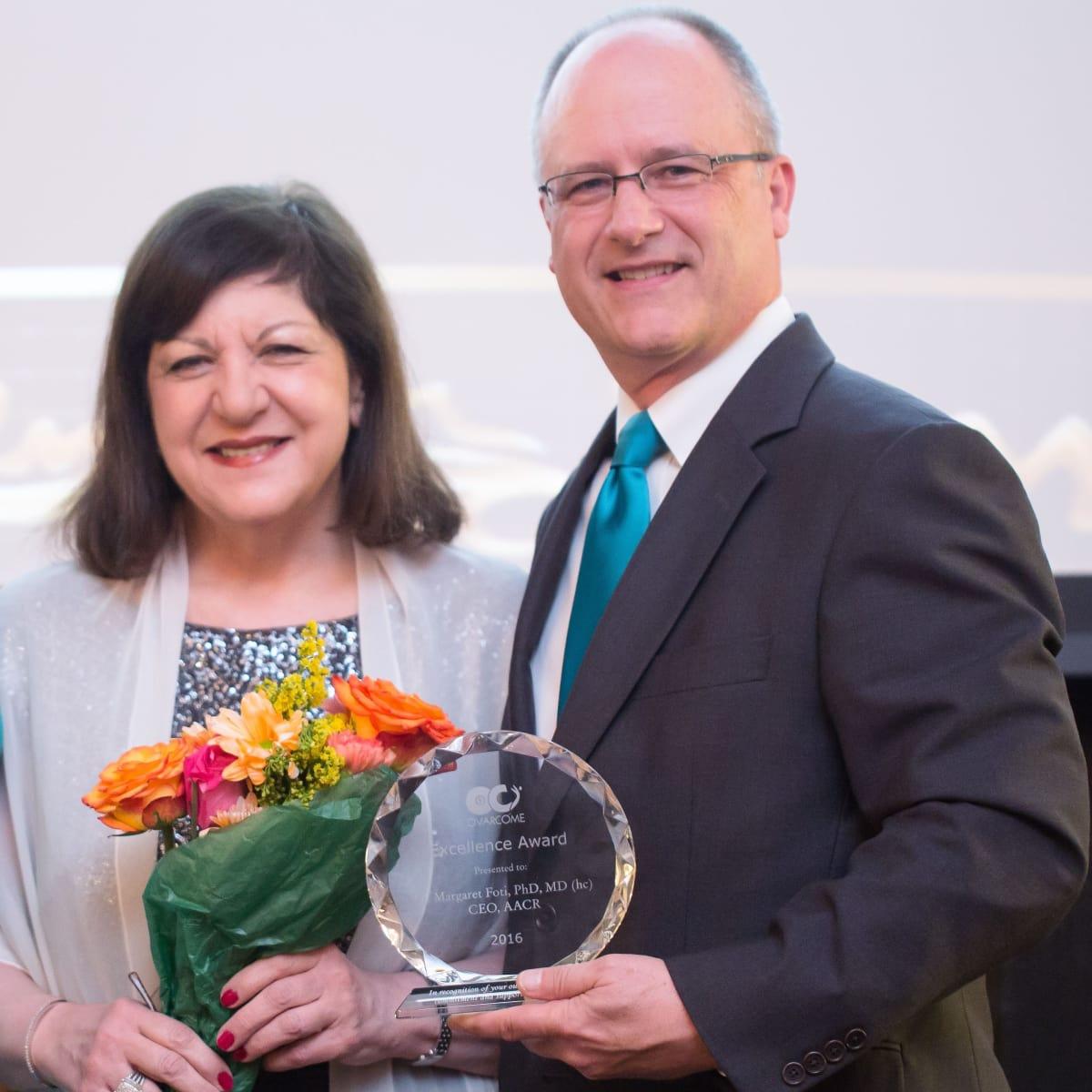 Ovarcome gala, Dr. Margaret Foti and Rob Heifner