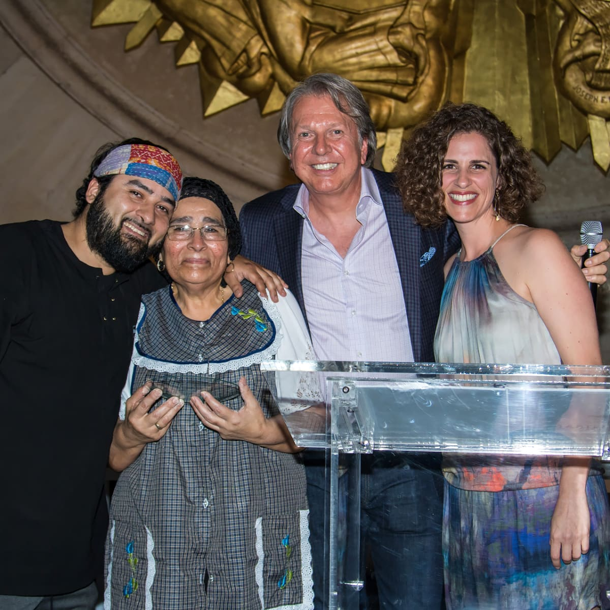 Revolver Taco Lounge accepting the Fort Worth Best Restaurant of the Year award