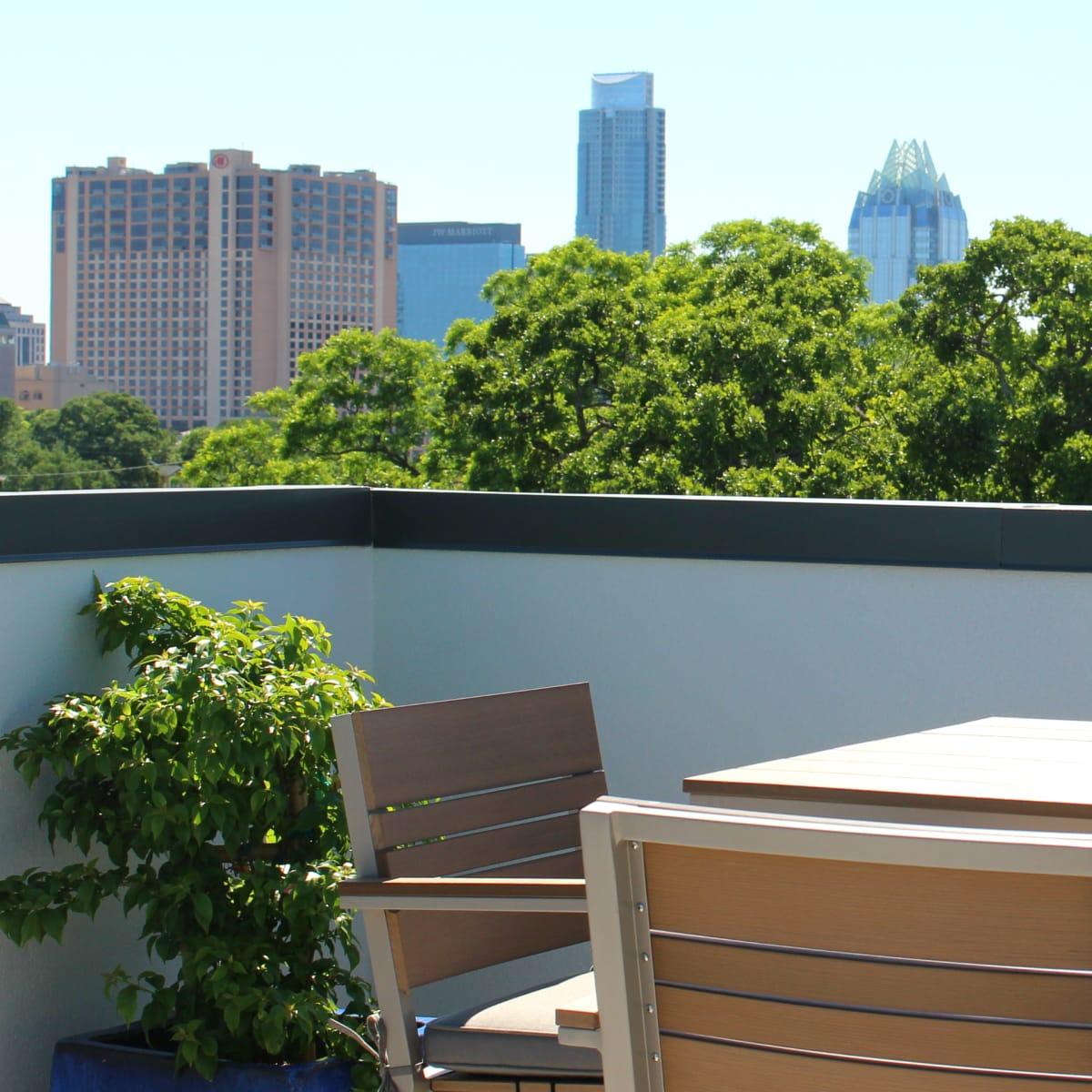 Hotel Eleven 11th Street Austin 2016 rooftop patio skyline view