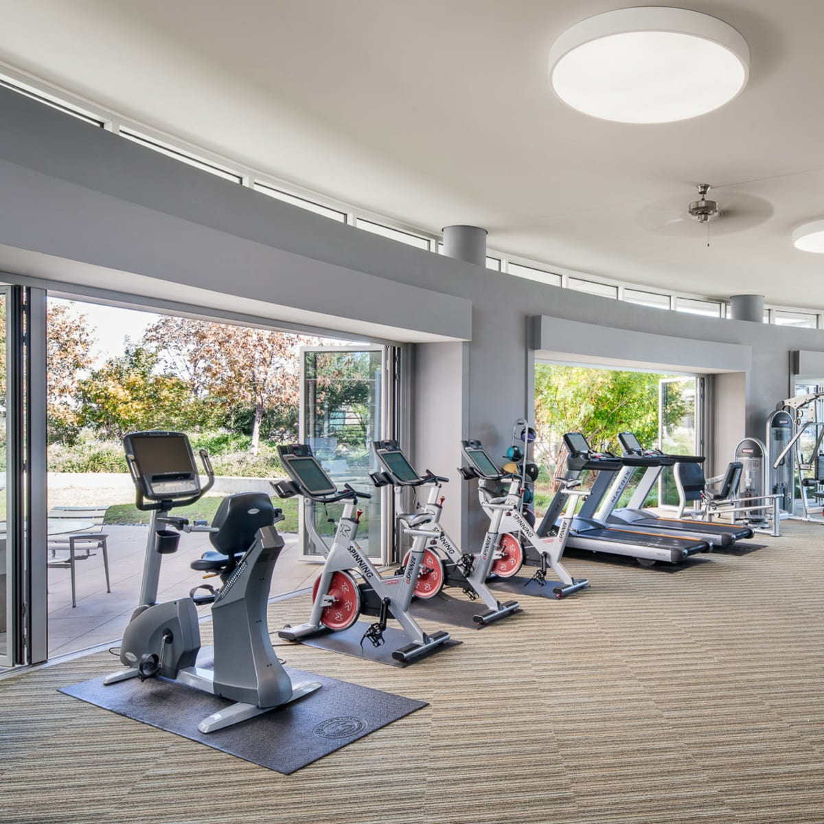 Fitness center at AMLI Design District