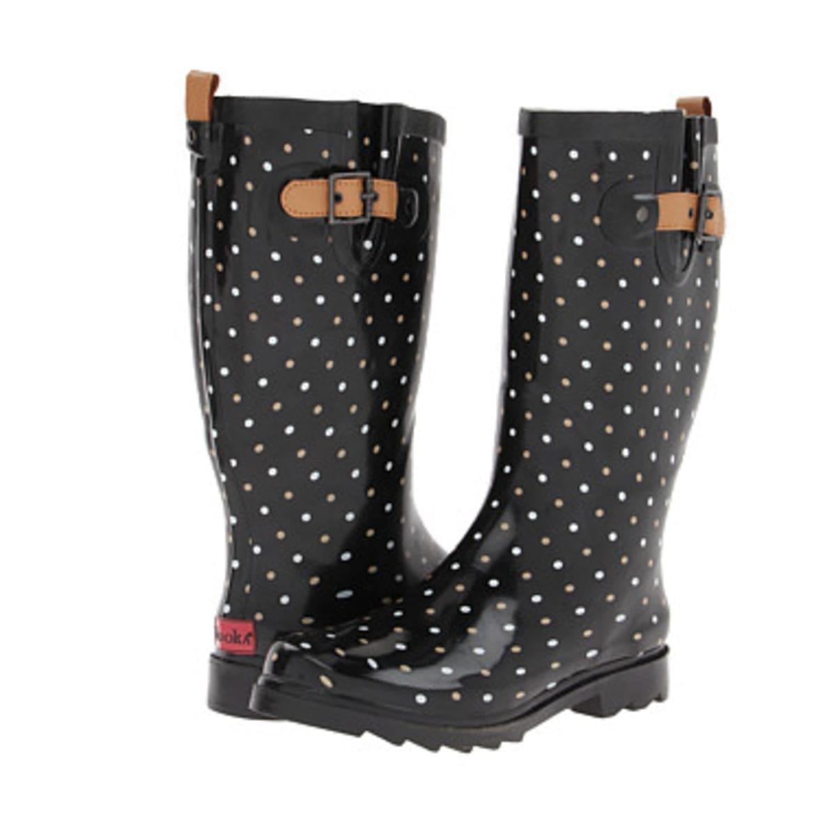 Chooka rain boot, classic dot, $70