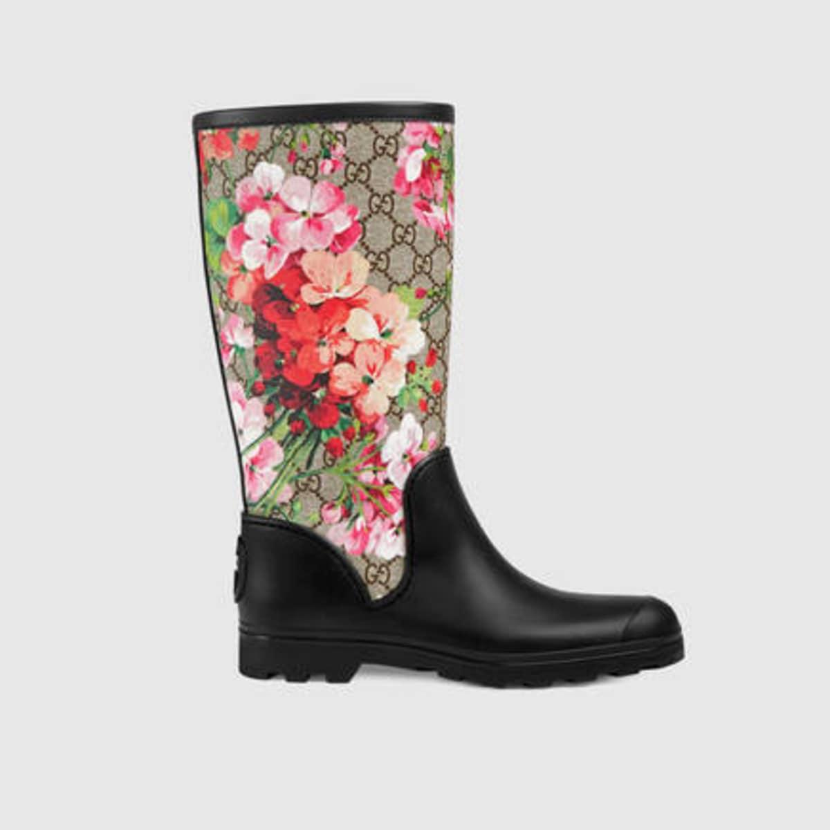 Rain Boots, Gucci GG Blooms Rain Boot, $570