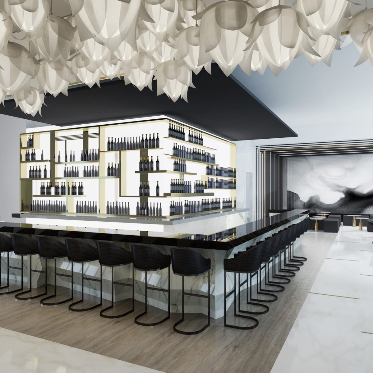 51Fifteen rendering bar and lounge
