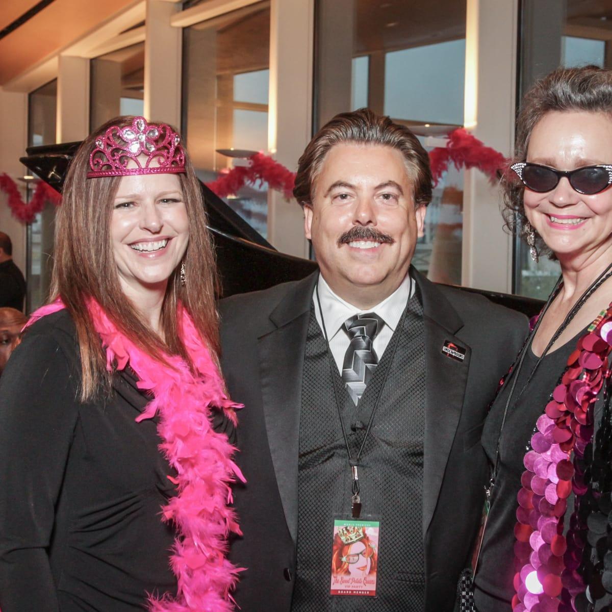 Tricia Ratliff, Alan Ratliff, Jill Conner Browne at Sweet Potato Queens party