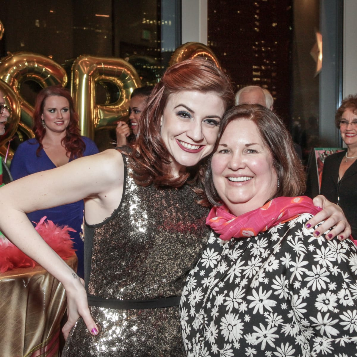 Kathryn Porterfield, Debbie Yowers at Sweet Potato Queens party