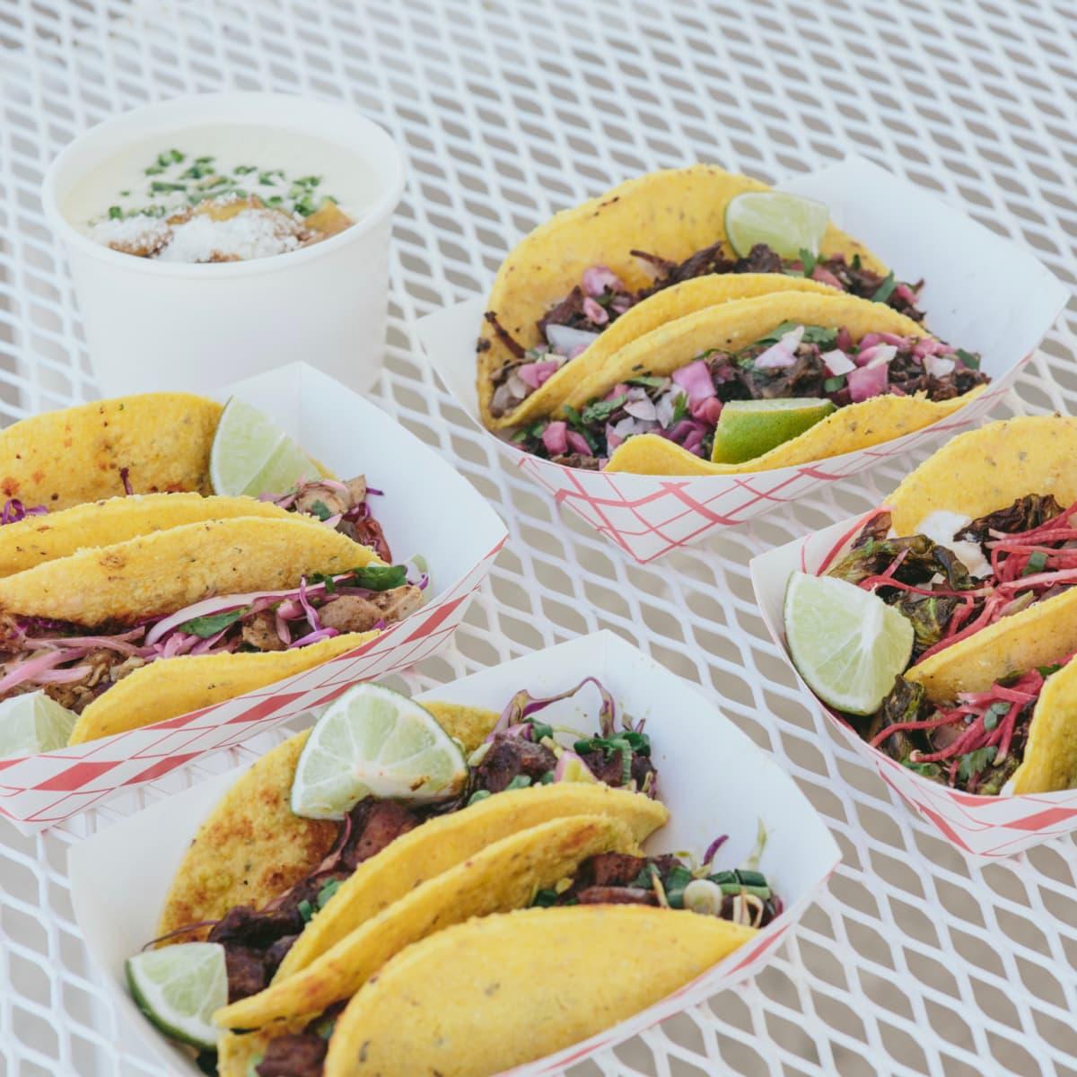 Eight Row Flint tacos