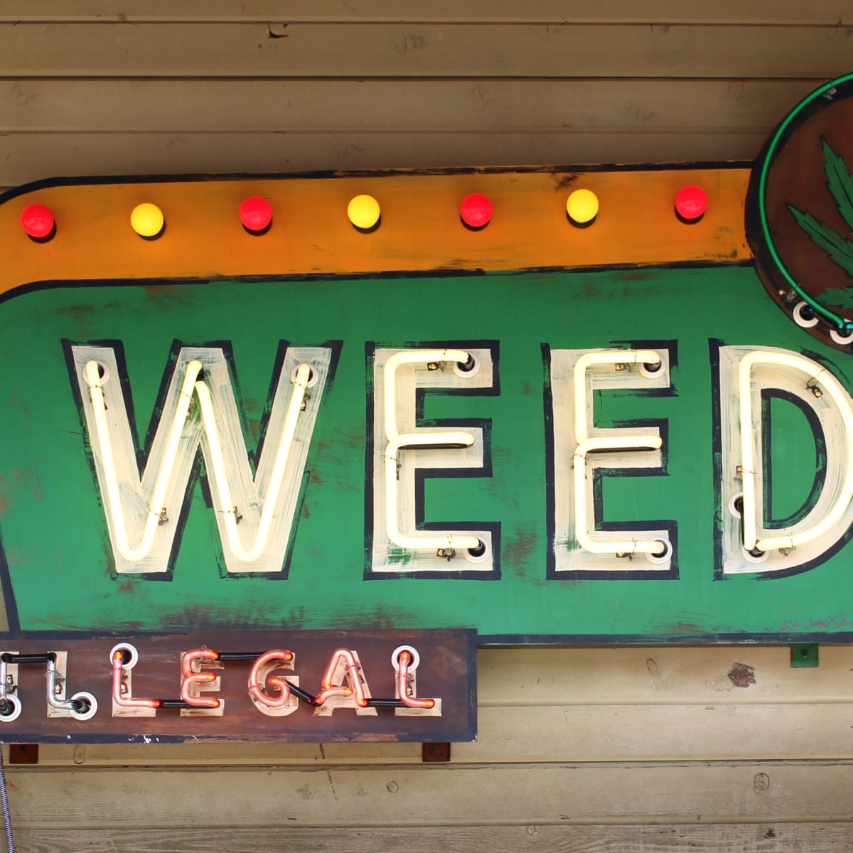 Luck Reunion 2016 Texas weed sign Todd Sanders