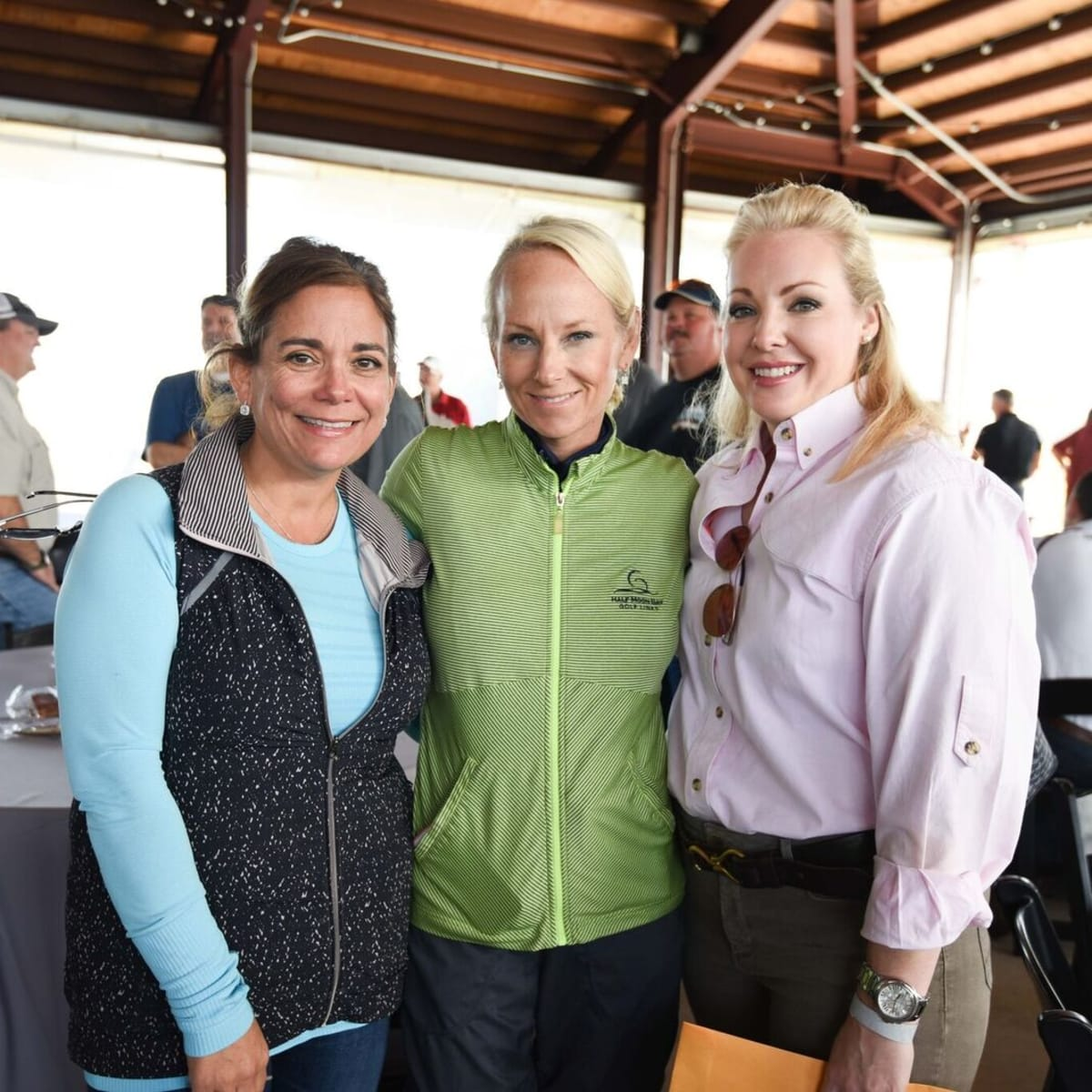 Carmen Mach, Melanie Rothwell, Katherine Stacy at Memorial Hermann Clay Shoot