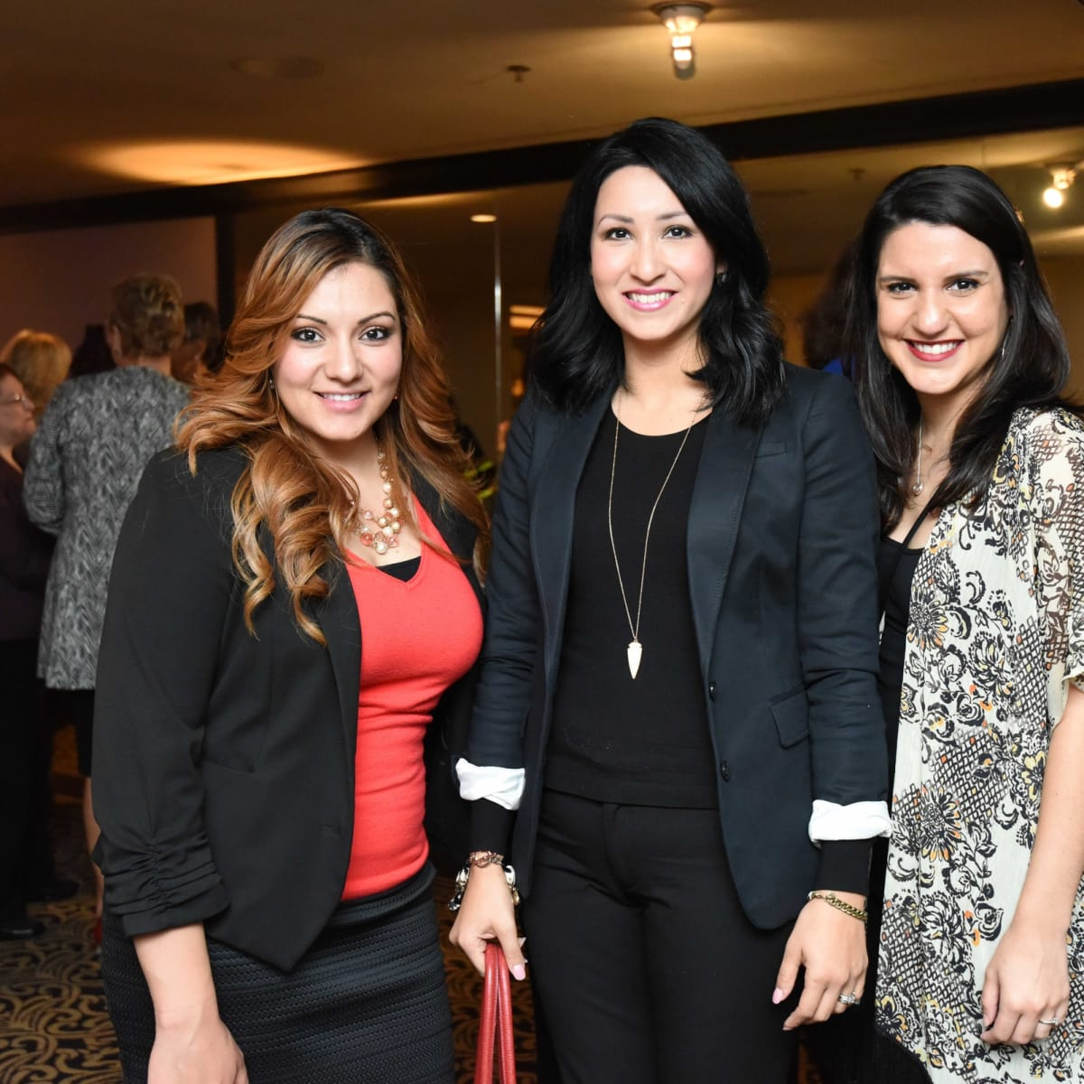 El Centro luncheon, Feb. 2016, Nereyda Espinoza, Crystal  Moya, Caroline Cisneros